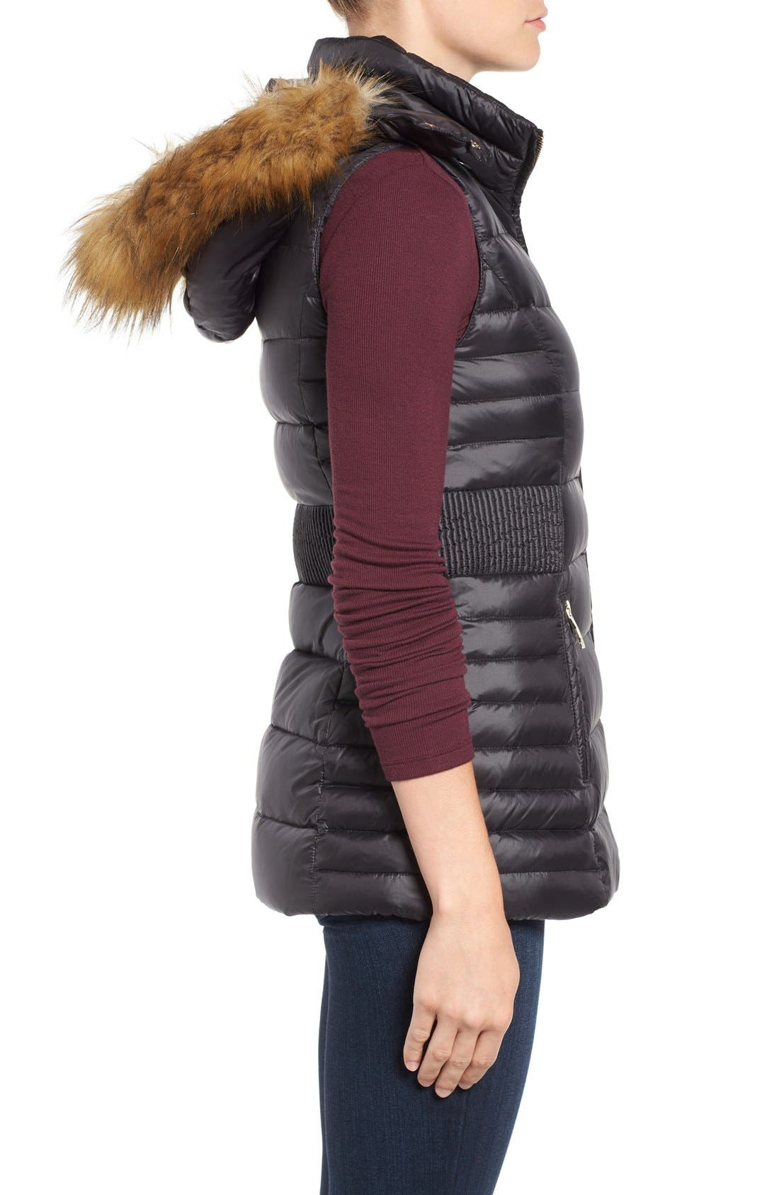 Alternate Image 3  - kate spade new york down vest with faux fur trim