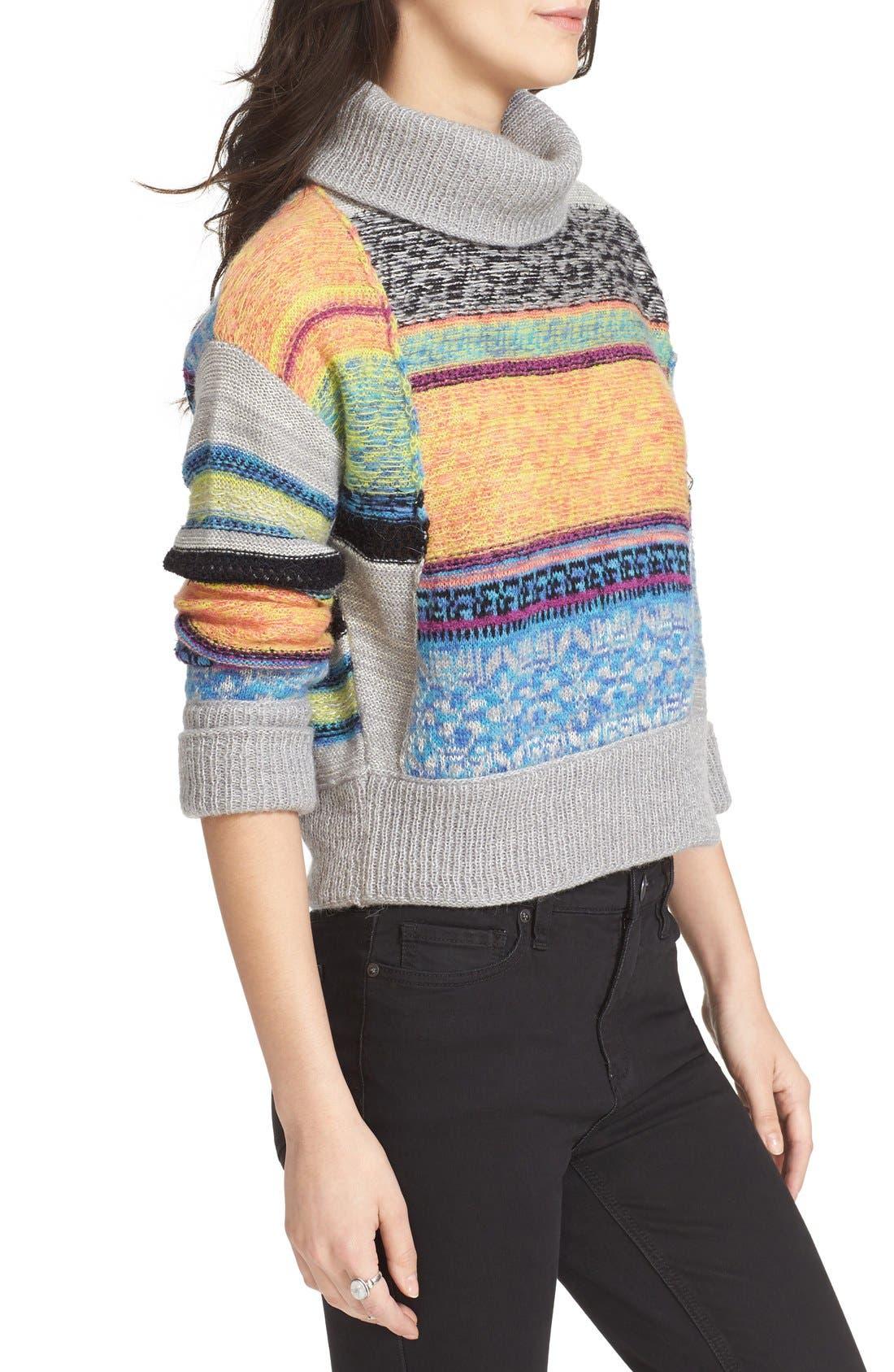 Alternate Image 3  - Free People This & That Mix Stitch Stripe Sweater