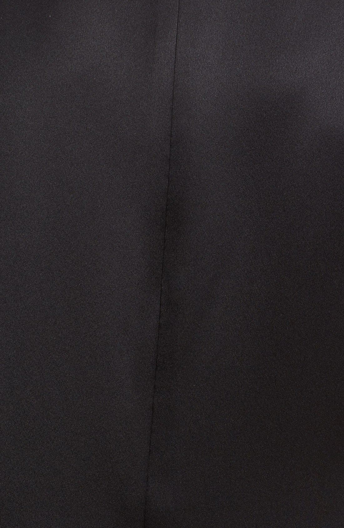 Short Sleeve Crepe Back Top,                             Alternate thumbnail 3, color,                             Black