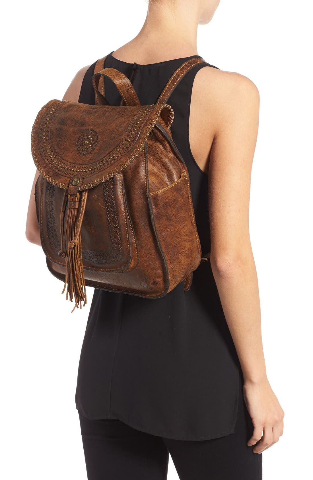 Alternate Image 2  - Patricia Nash 'Jovanna' Tassel Studded Leather Backpack
