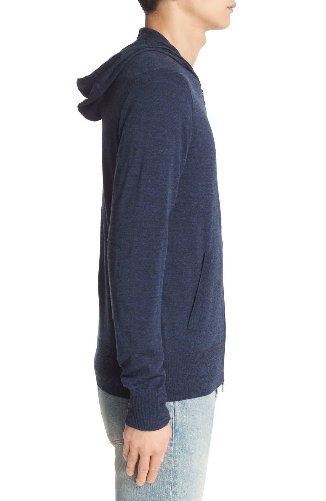 Alternate Image 3  - John Varvatos Collection Merino Wool Zip Hoodie