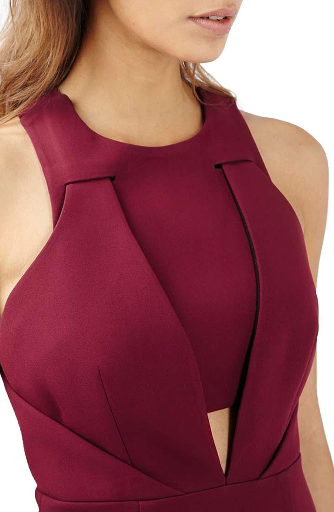 Alternate Image 5  - Topshop Structured Crisscross Back Midi Dress