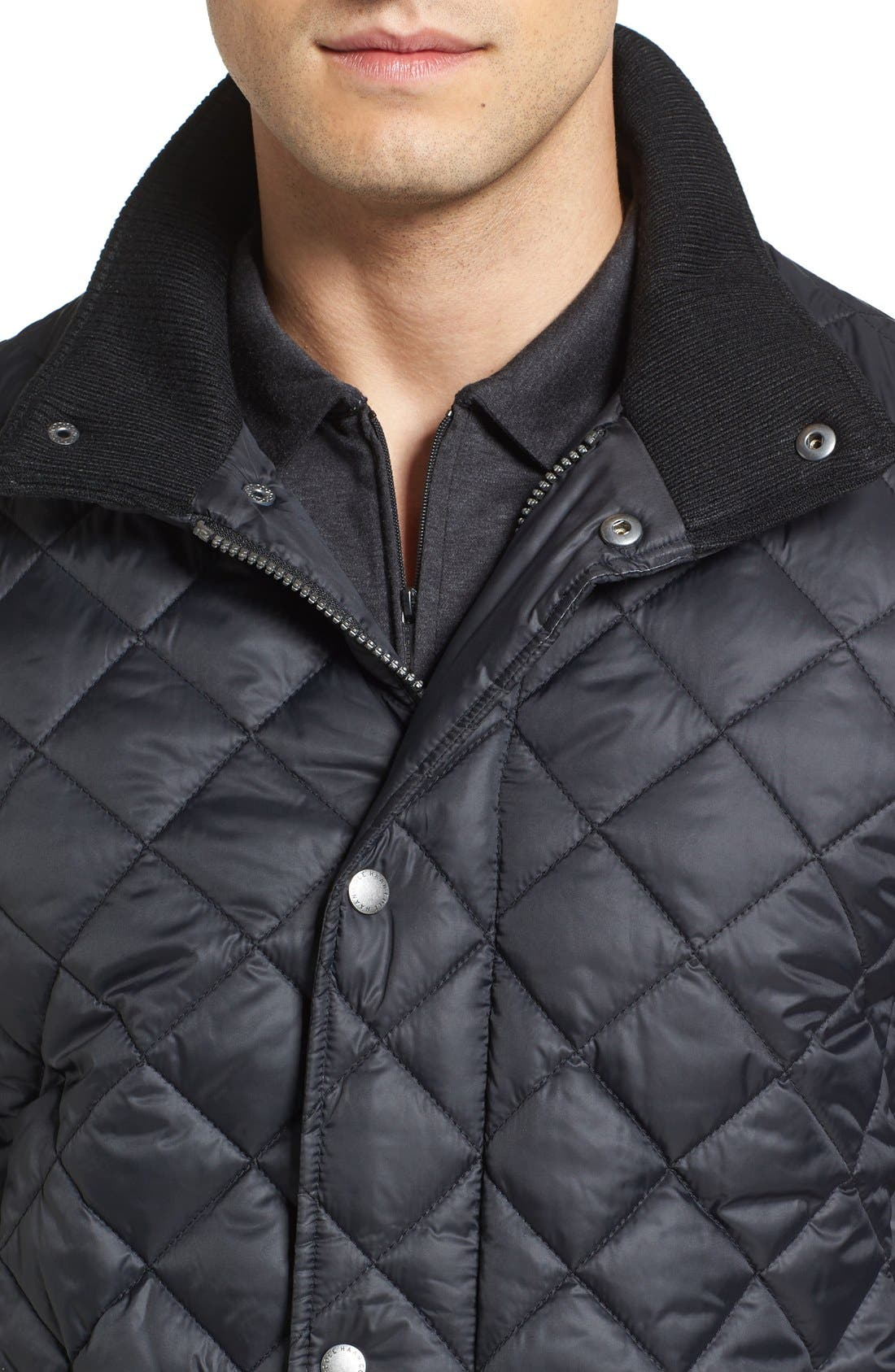 Diamond Quilted Jacket,                             Alternate thumbnail 14, color,                             Navy