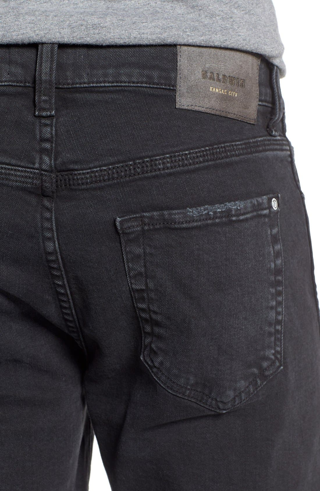 'Henley' Slim Fit Jeans,                             Alternate thumbnail 5, color,                             Smoke