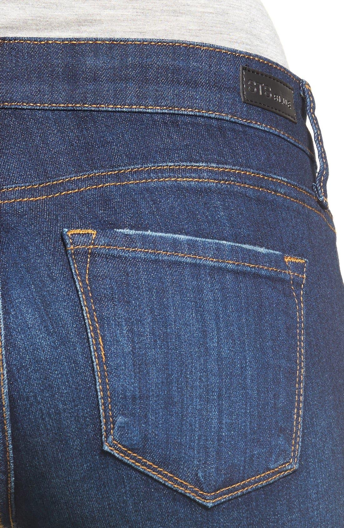 'Emma' Release Hem Skinny Jeans,                             Alternate thumbnail 4, color,                             East La Canada