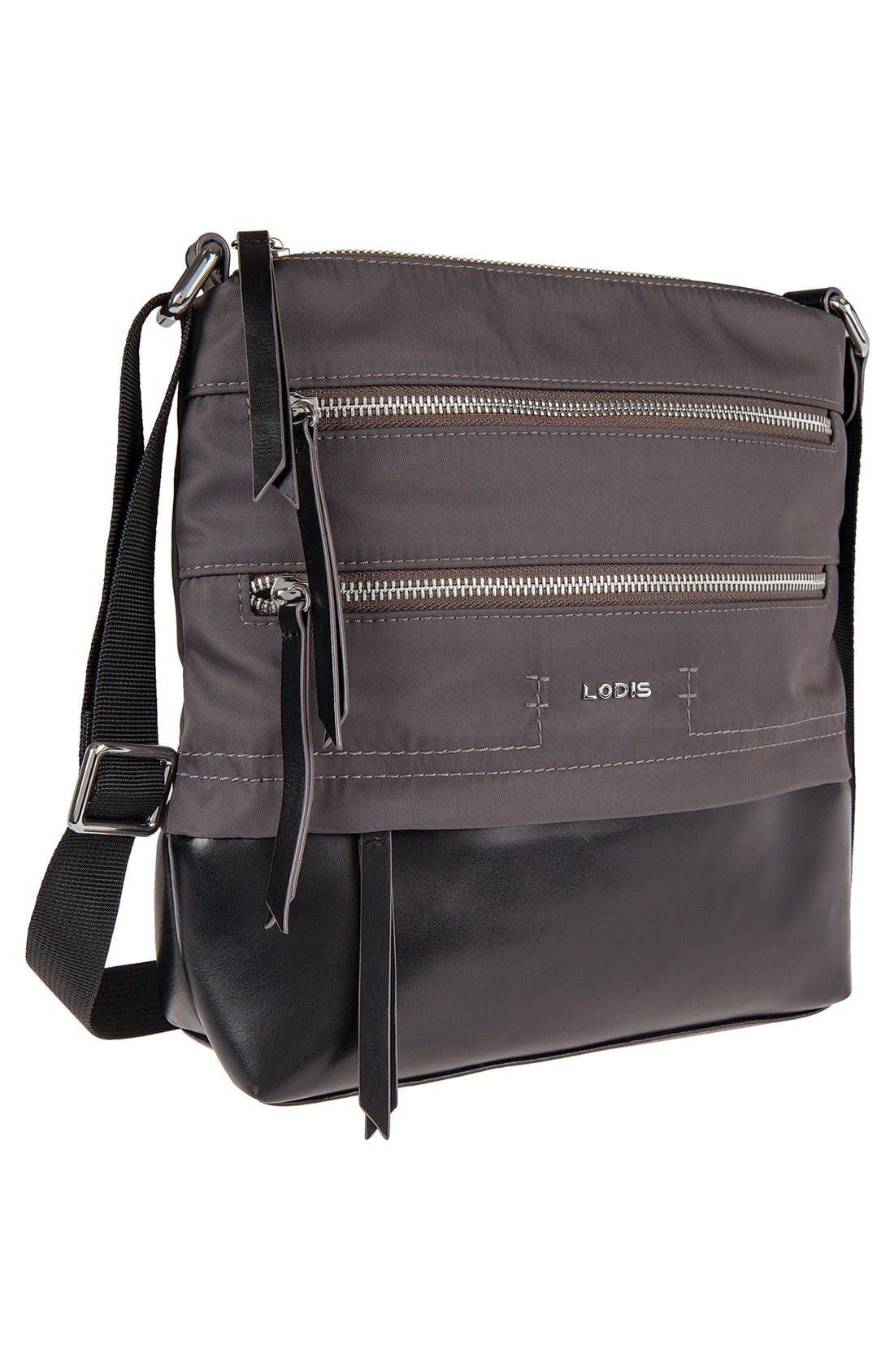 Alternate Image 4  - LODIS Wanda RFID Nylon & Leather Crossbody Bag