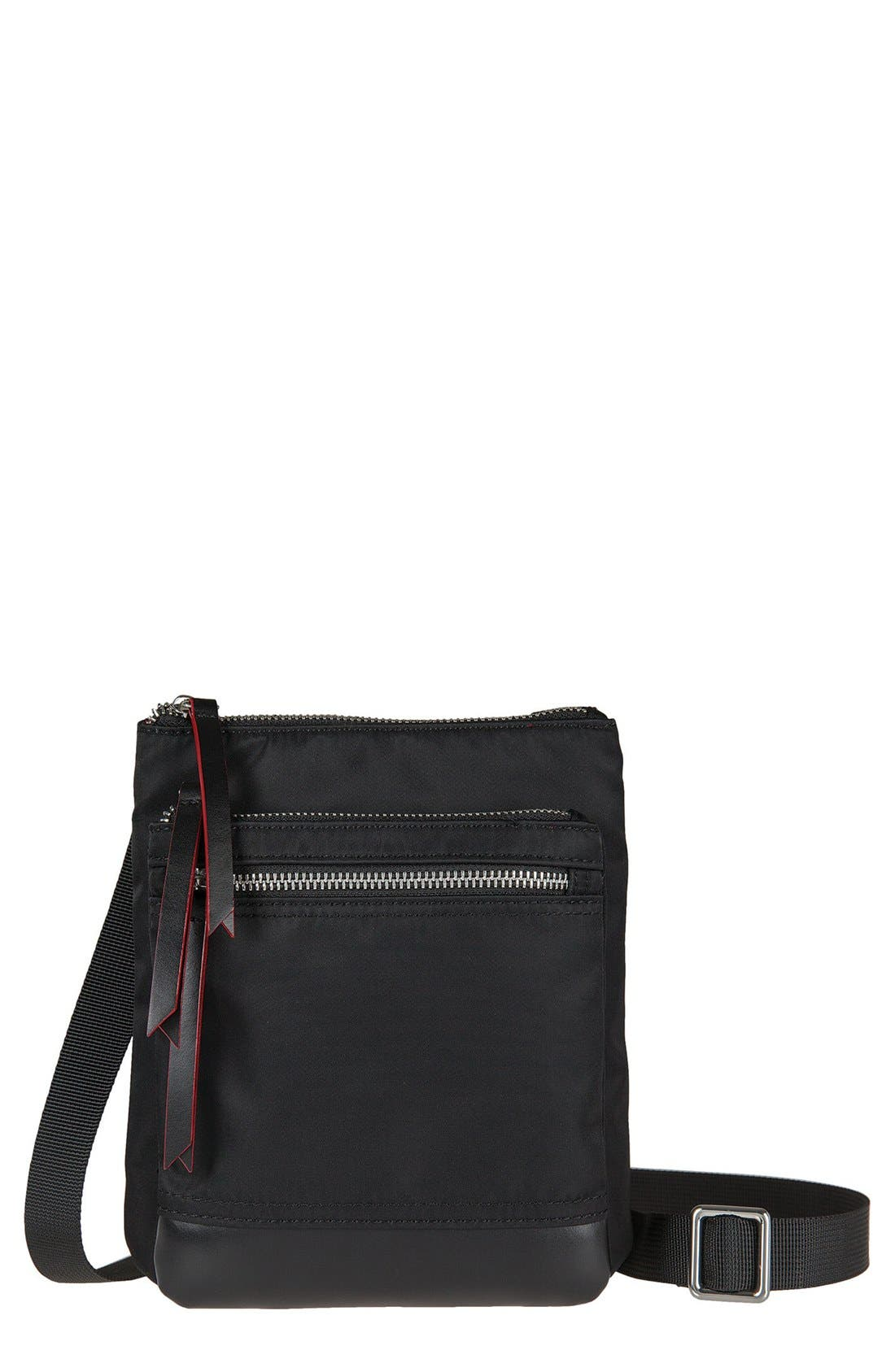 LODIS Los Angeles Zora RFID Nylon & Leather Crossbody Bag