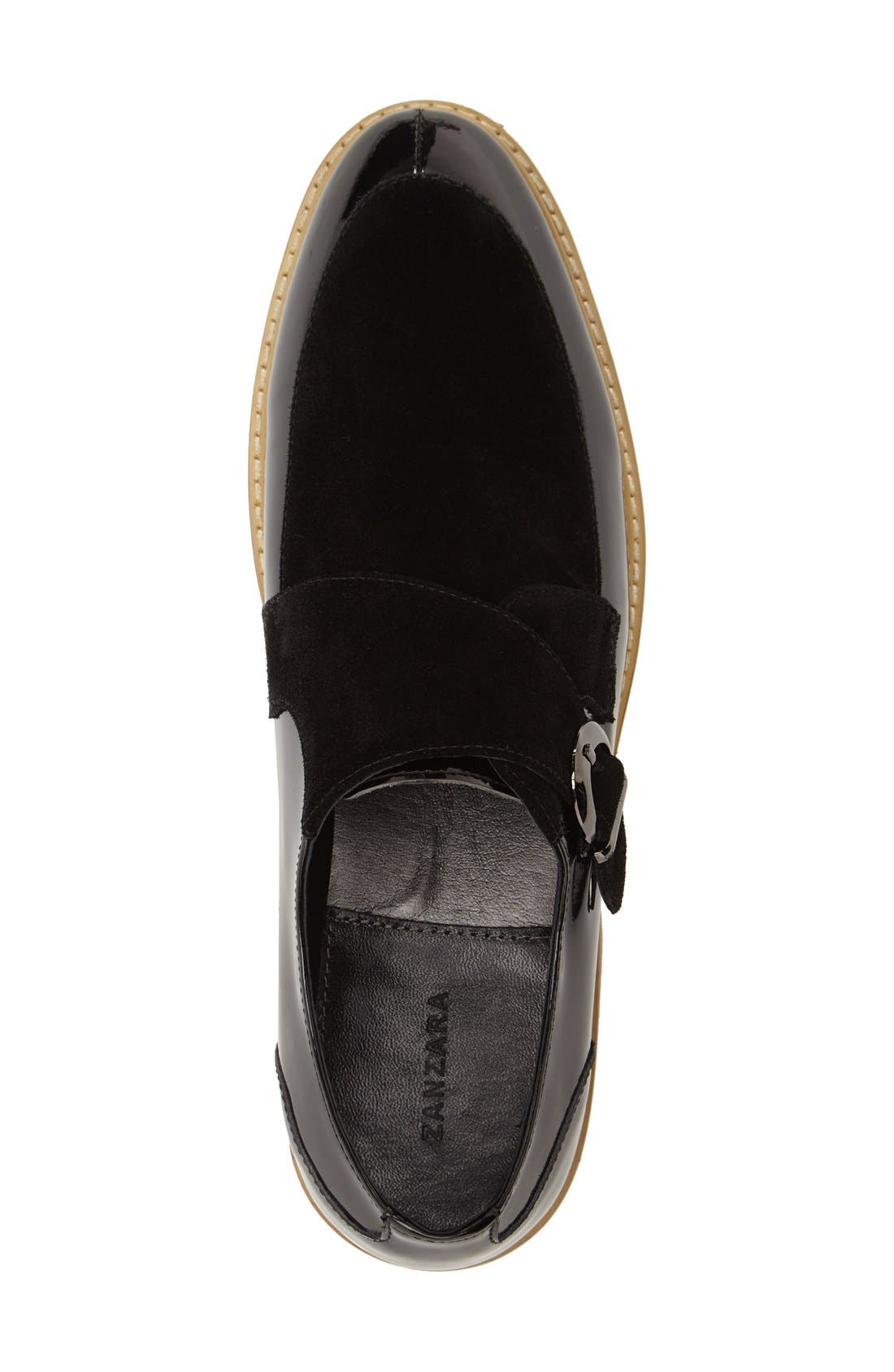 'Courbet' Monk Strap Shoe,                             Alternate thumbnail 3, color,                             Black