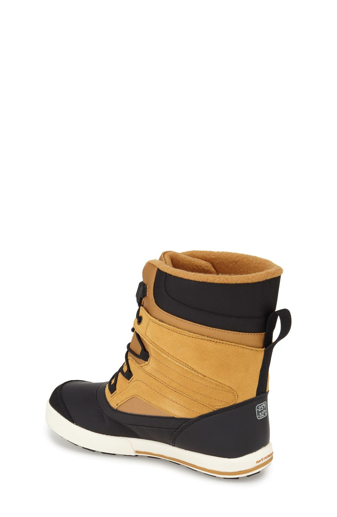 'Snow Bank 2' Waterproof Boot,                             Alternate thumbnail 2, color,                             Wheat/ Black Leather