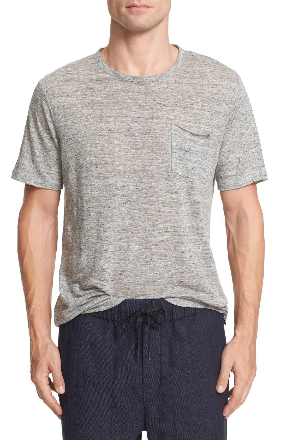 RAG&BONE Owen Slub Linen-jersey T-shirt - Gray UjnANU