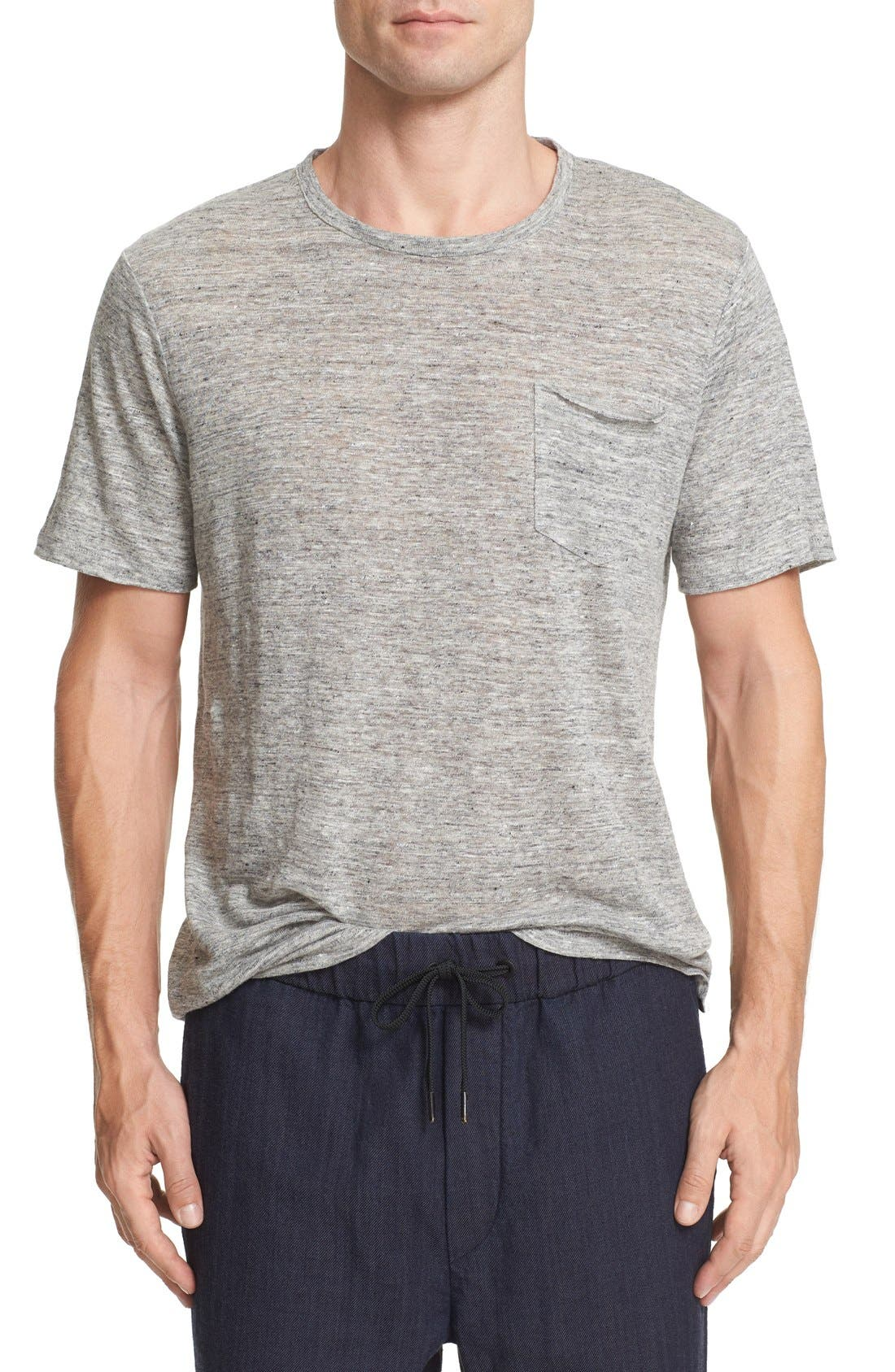 Alternate Image 1 Selected - rag & bone Owen Slub Linen T-Shirt