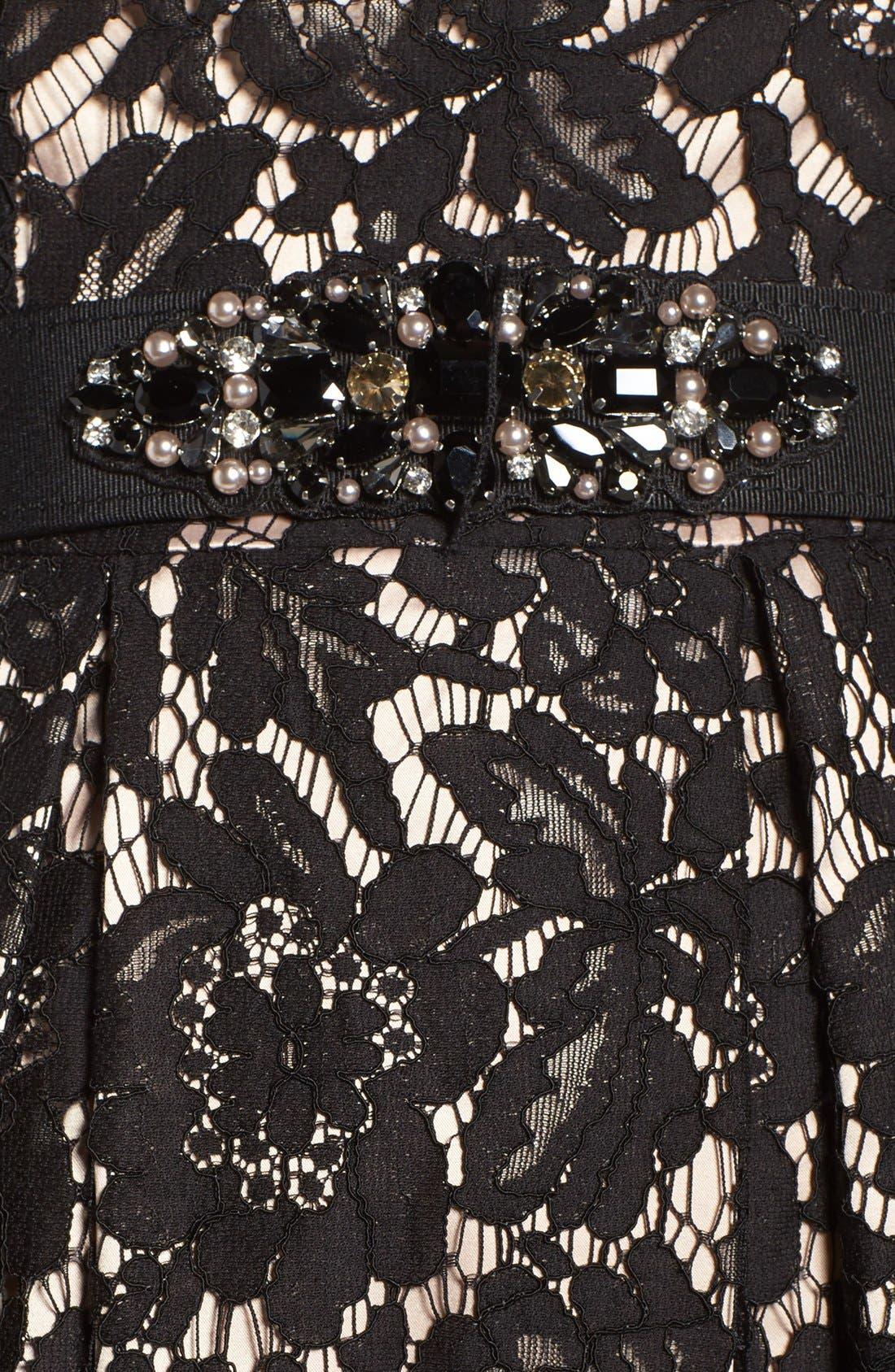 Alternate Image 6  - Eliza J Embellished Lace Fit & Flare Dress (Regular & Petite)