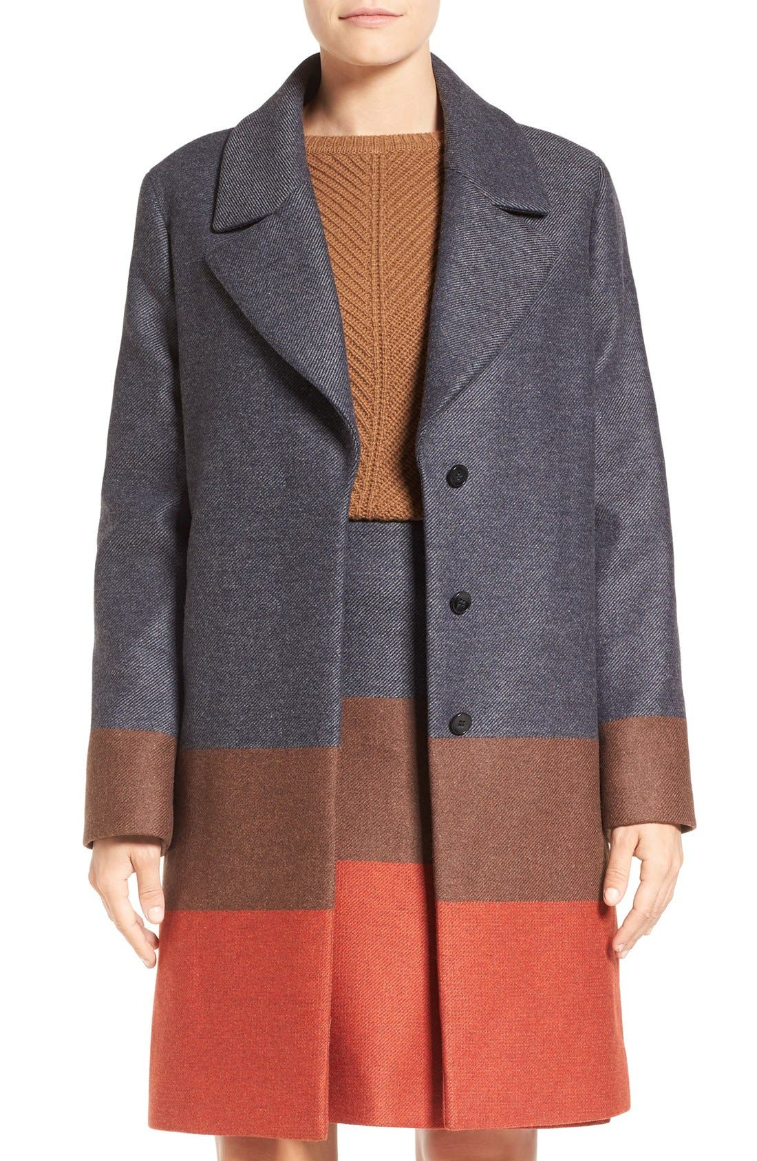 Alternate Image 1 Selected - BOSS 'Colora' Long Wool Blend Jacket