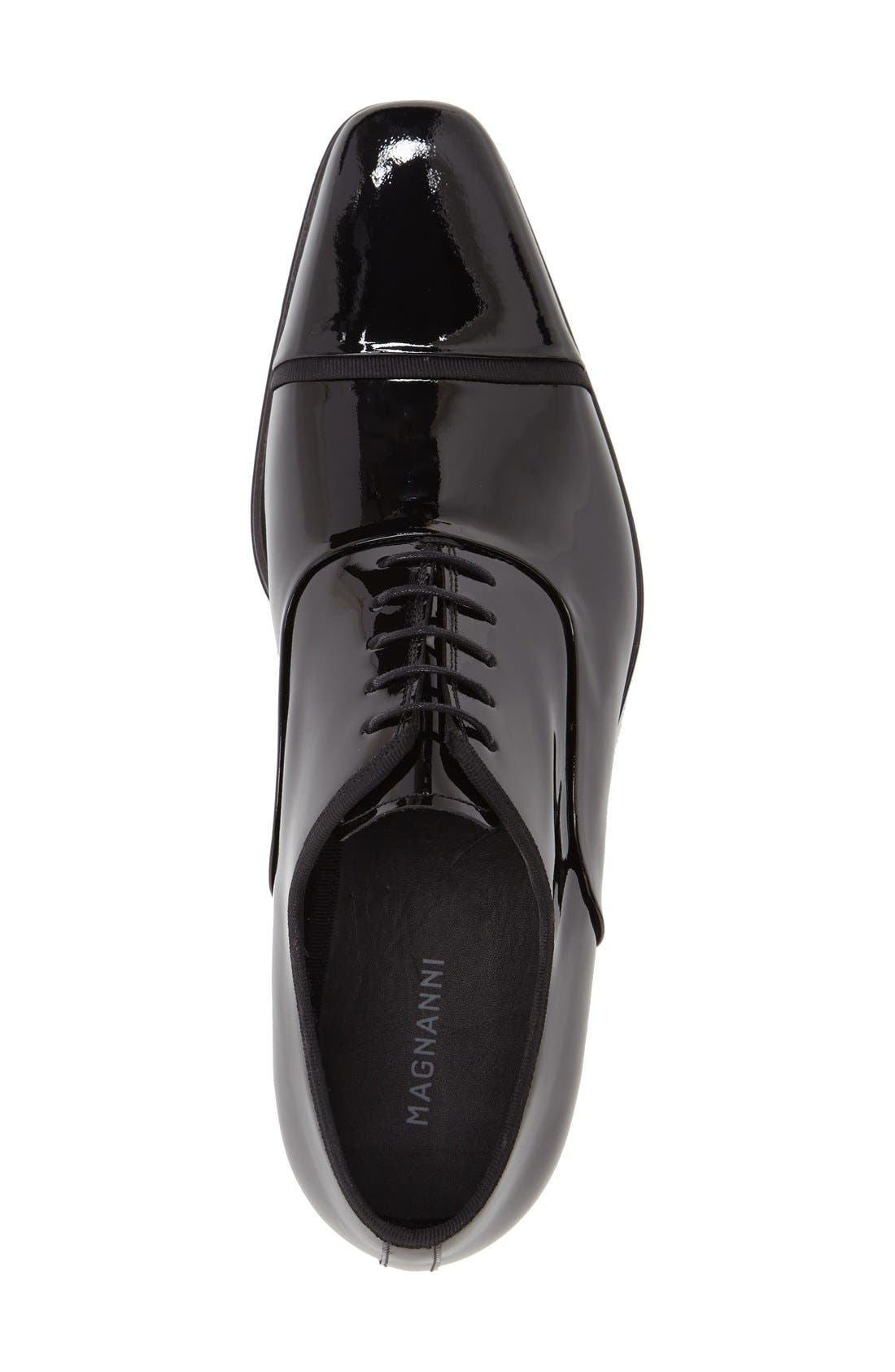 'Denali' Cap Toe Oxford,                             Alternate thumbnail 3, color,                             Black
