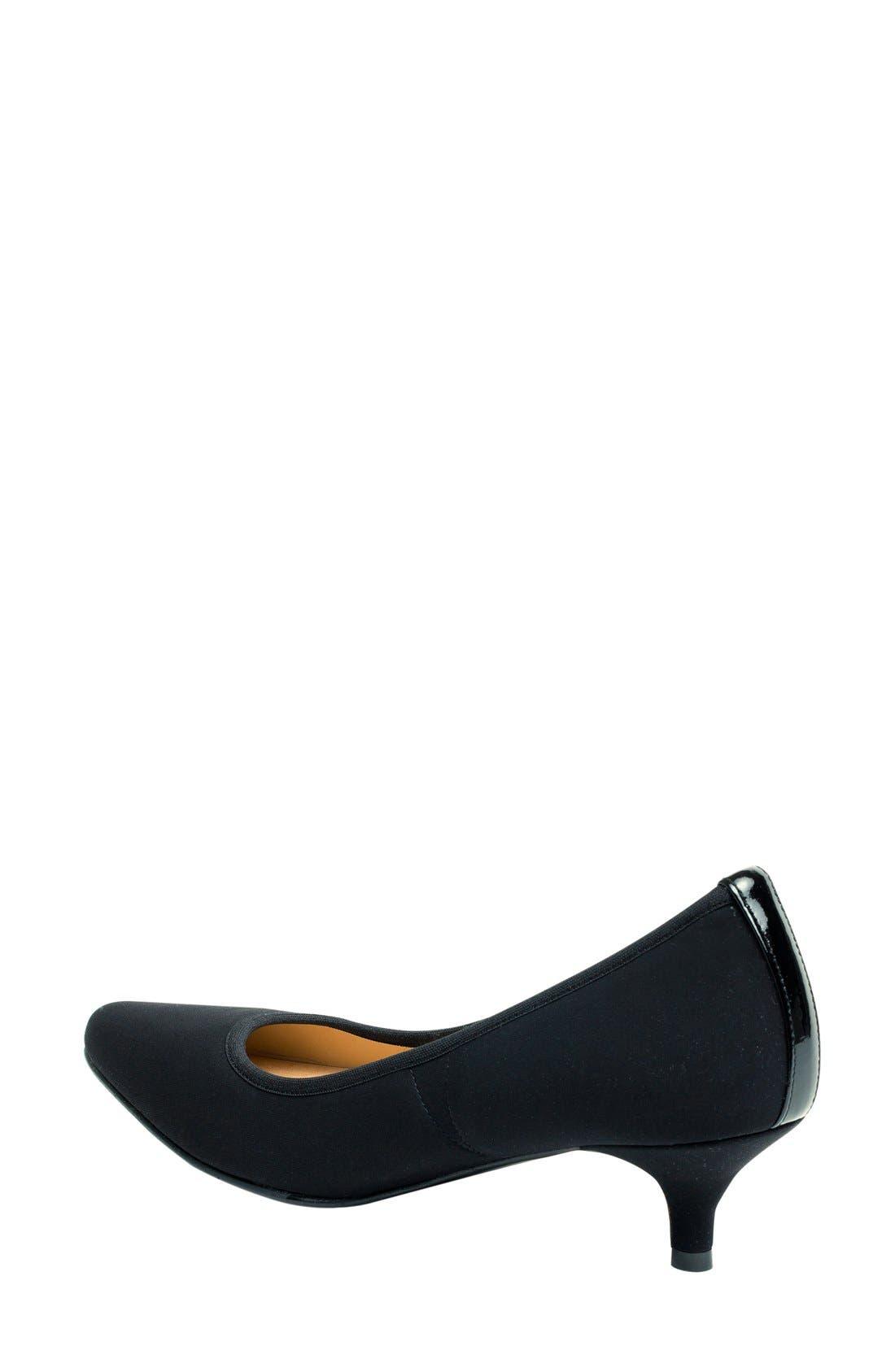 Phyllis Kitten Heel Pump,                             Alternate thumbnail 2, color,                             Black Fabric