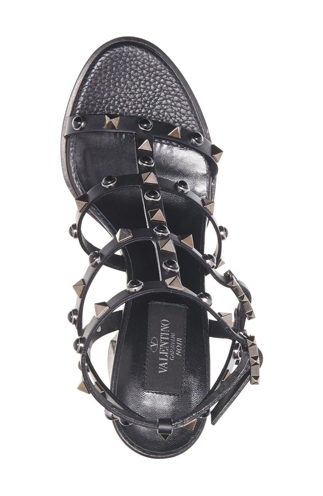 Alternate Image 3  - Valentino Noir Rolling Rockstud Sandal (Women)