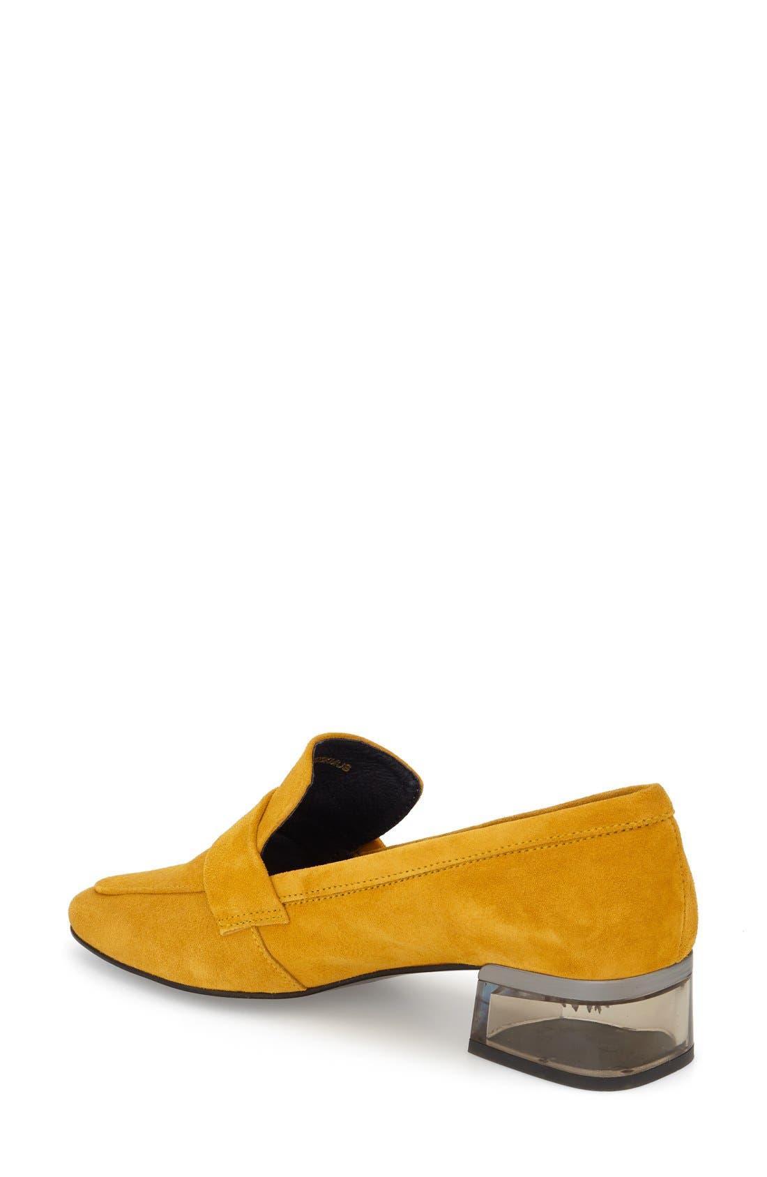 Alternate Image 2  - Topshop 'Karrot' Clear Heel Loafer (Women)