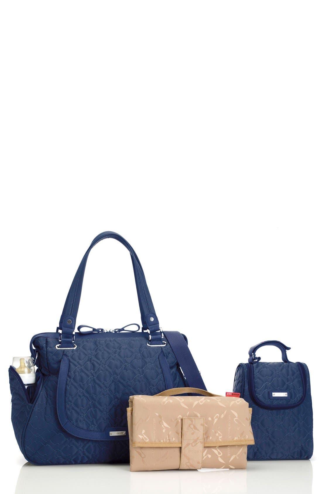 'Anna' Diaper Bag,                         Main,                         color, Navy