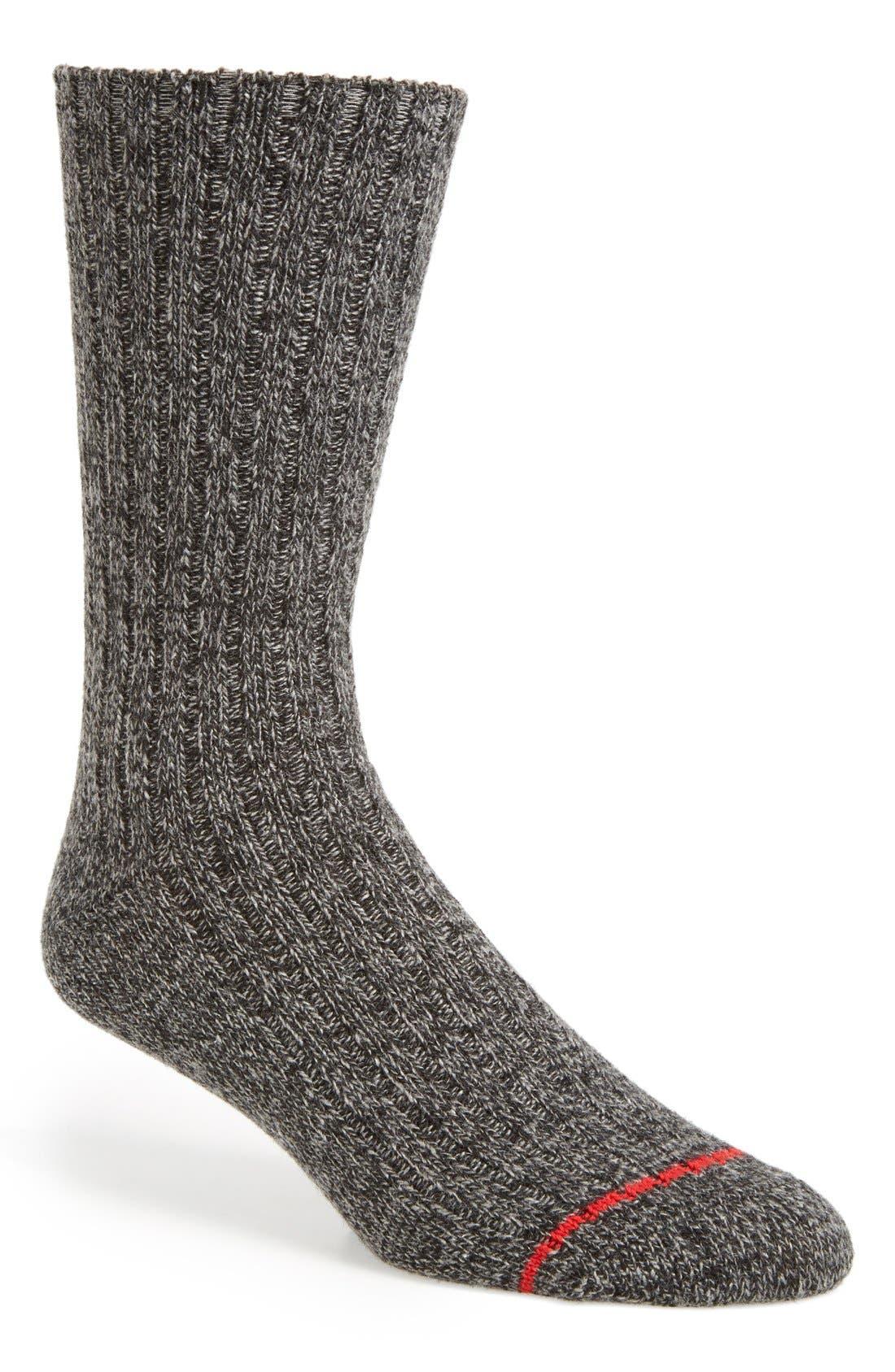 UGG 'Classic' Heathered Socks,                             Main thumbnail 1, color,                             Seal