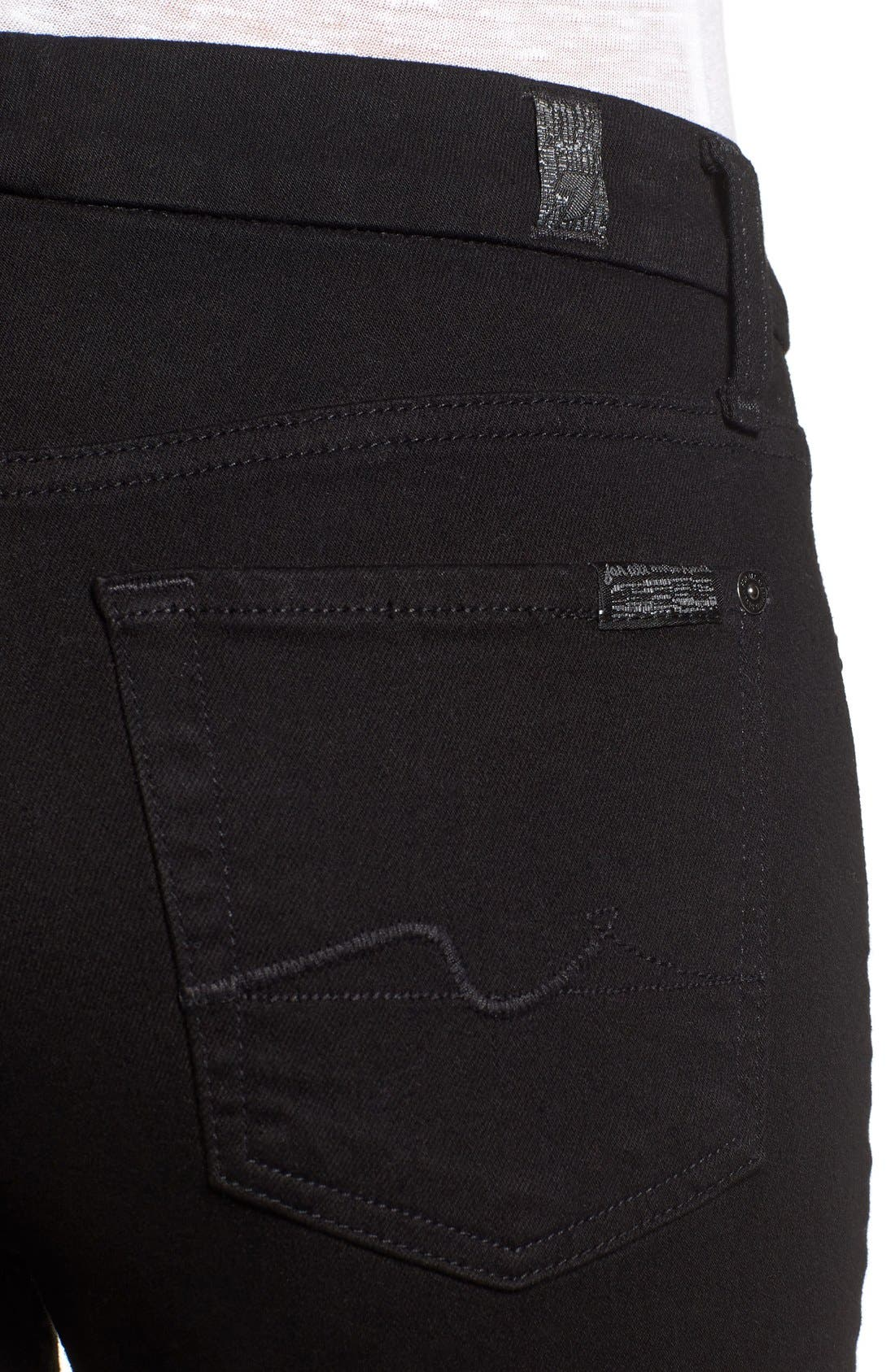 Alternate Image 3  - 7 For All Mankind® 'Kimmie' Bootcut Jeans (Washed Overdyed Black)