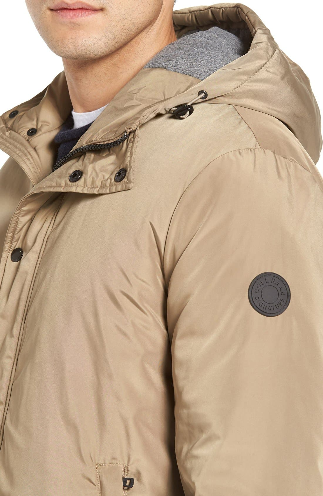 Water Resistant Insulated Jacket,                             Alternate thumbnail 4, color,                             Khaki