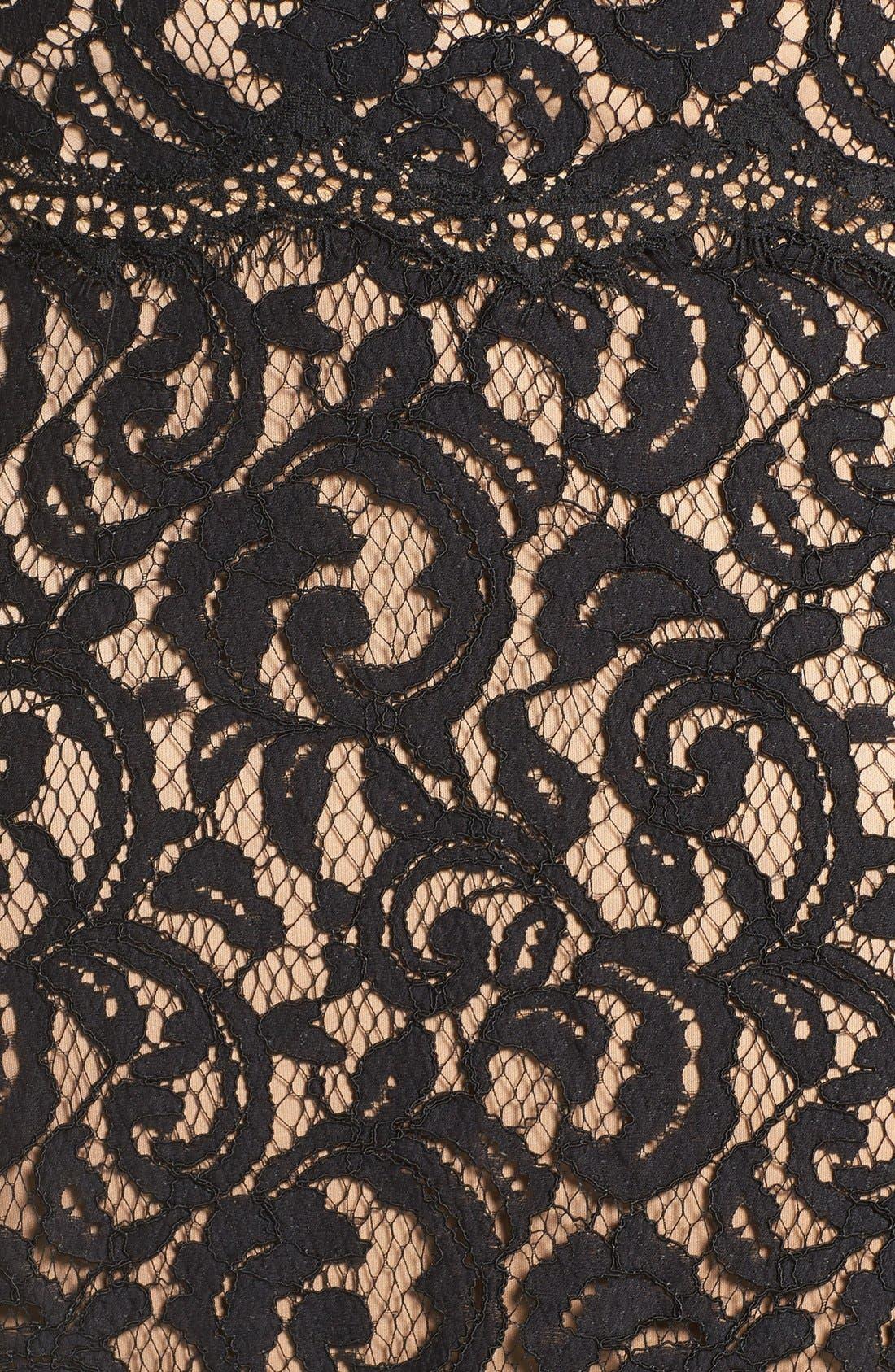 Alternate Image 5  - Tadashi Shoji Mock Two Piece Lace Gown (Plus Size)