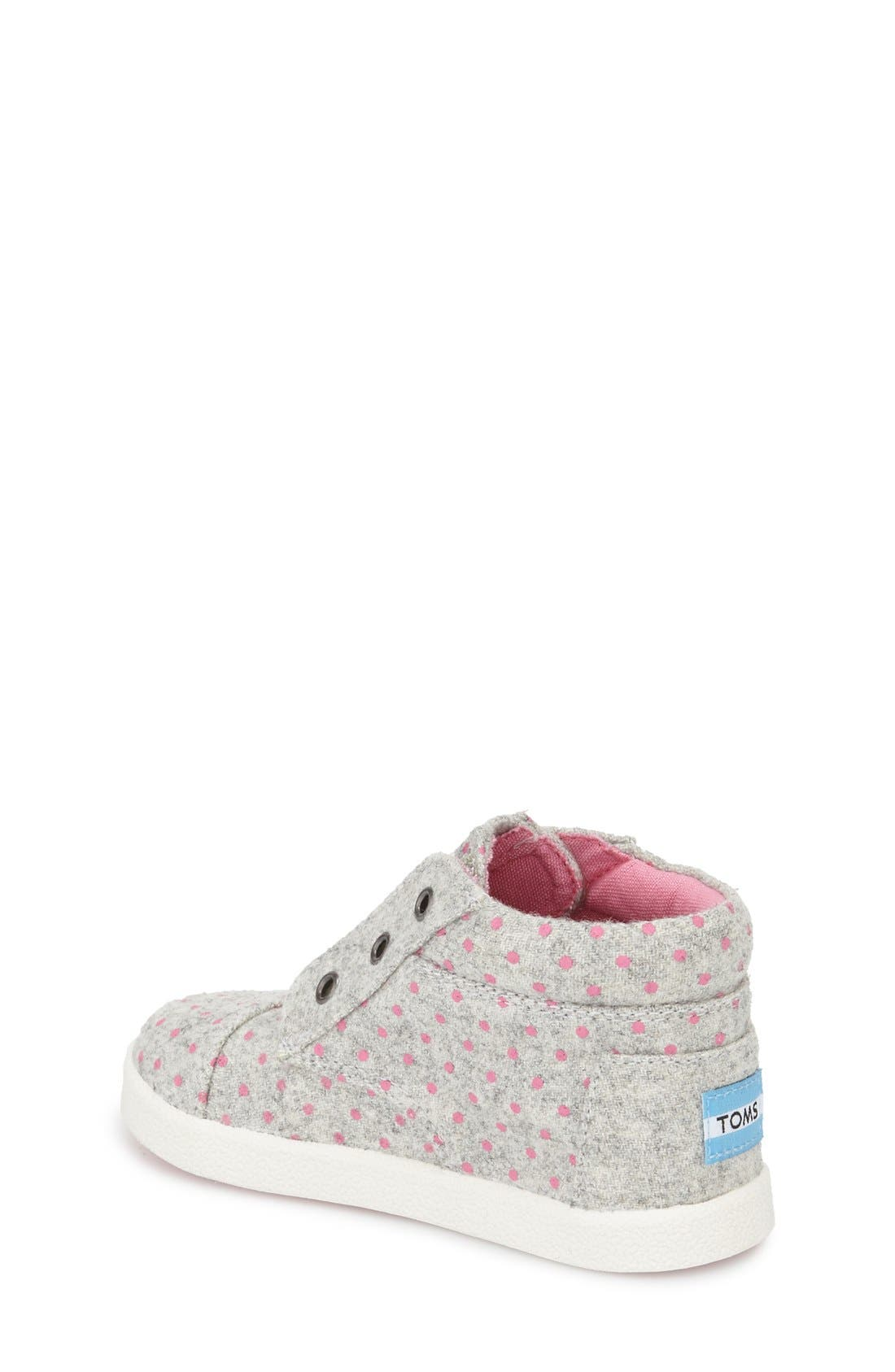 Alternate Image 2  - TOMS 'Paseo' High Top Sneaker (Baby, Walker & Toddler)
