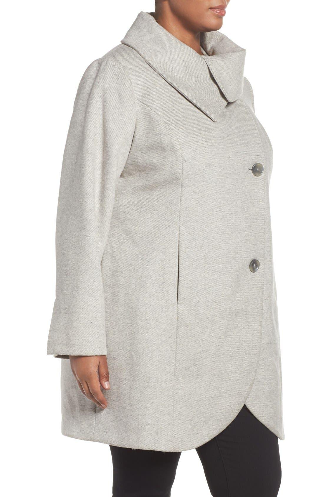 Alternate Image 3  - Tahari Asymmetrical Coat (Plus Size)