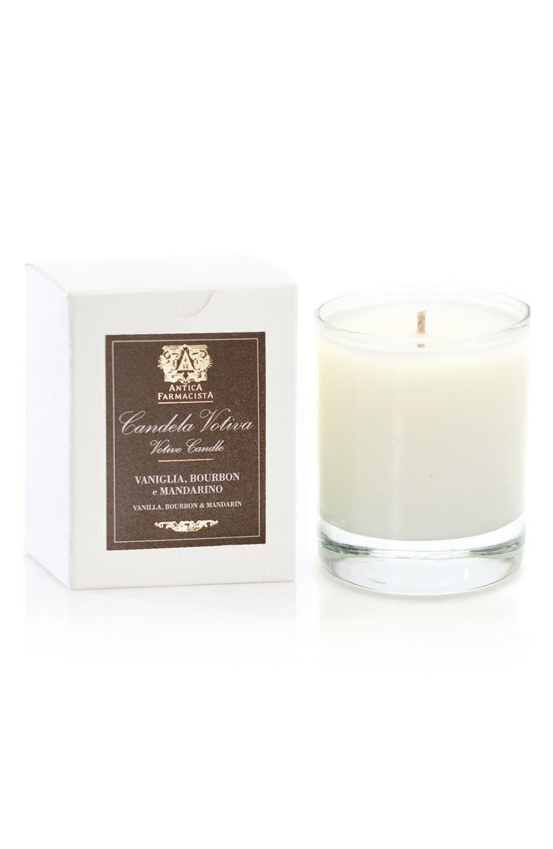 Vanilla, Bourbon & Mandarin Votive Candle,                             Main thumbnail 1, color,                             No Color