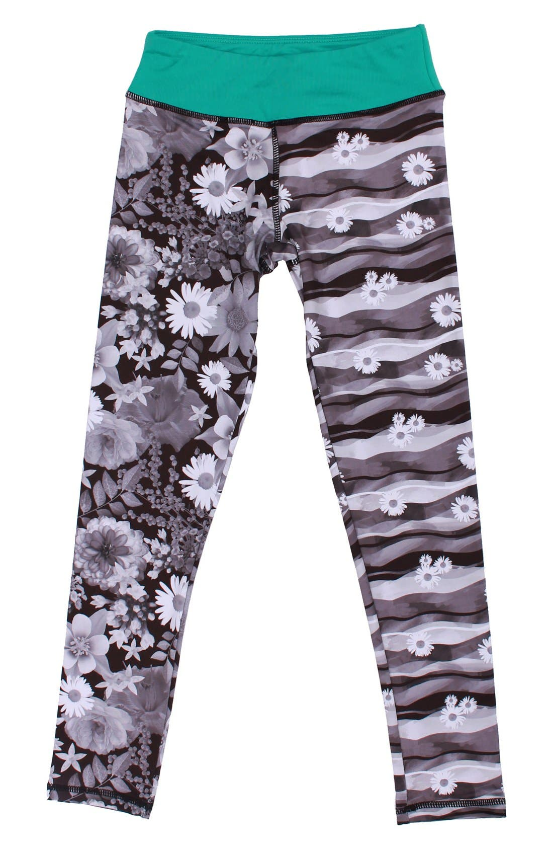 Alternate Image 2  - CHOOZE Splits Mixed Print Leggings (Little Girls & Big Girls)