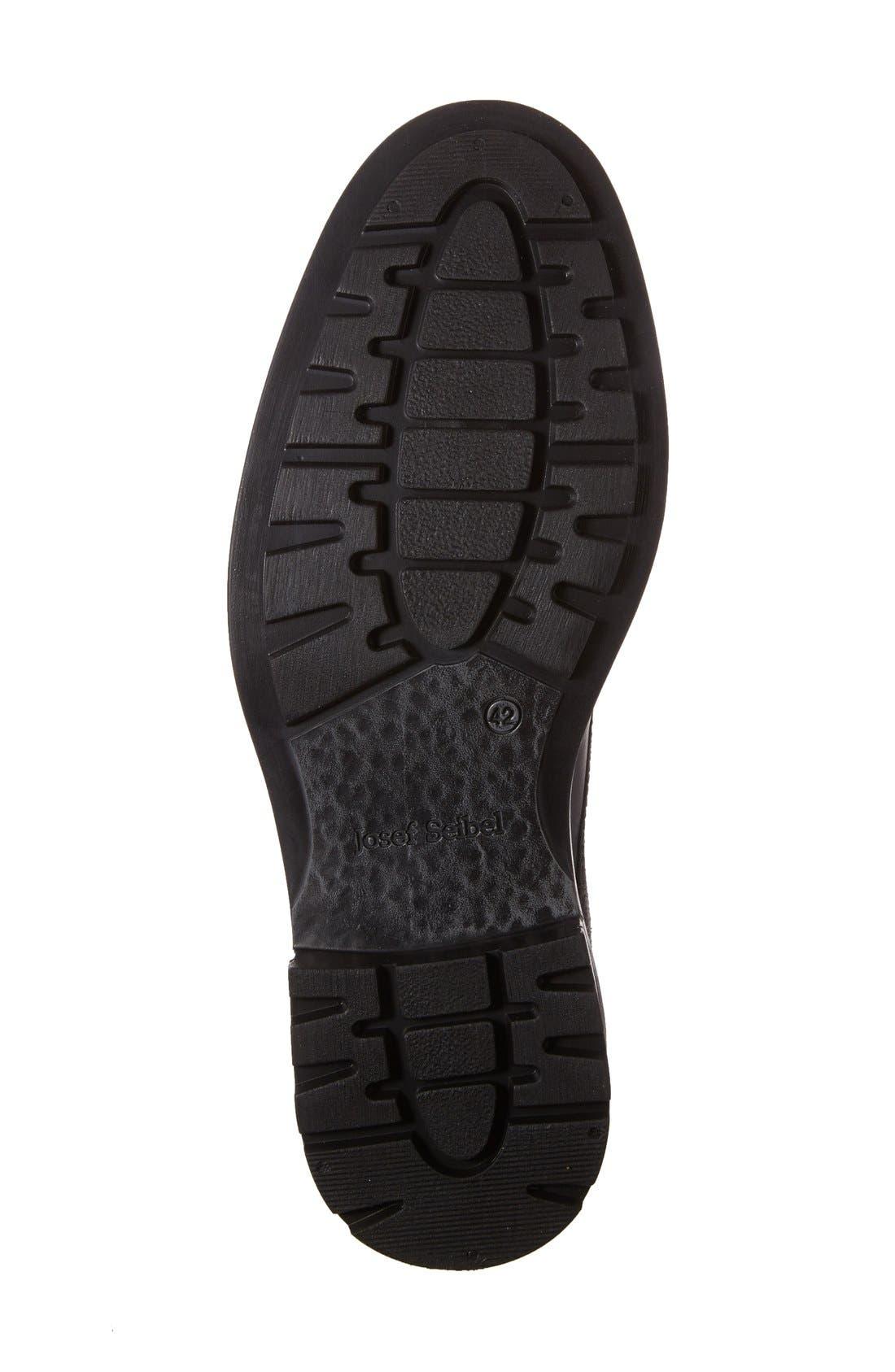Oscar Plain Toe Derby,                             Alternate thumbnail 4, color,                             Black Leather