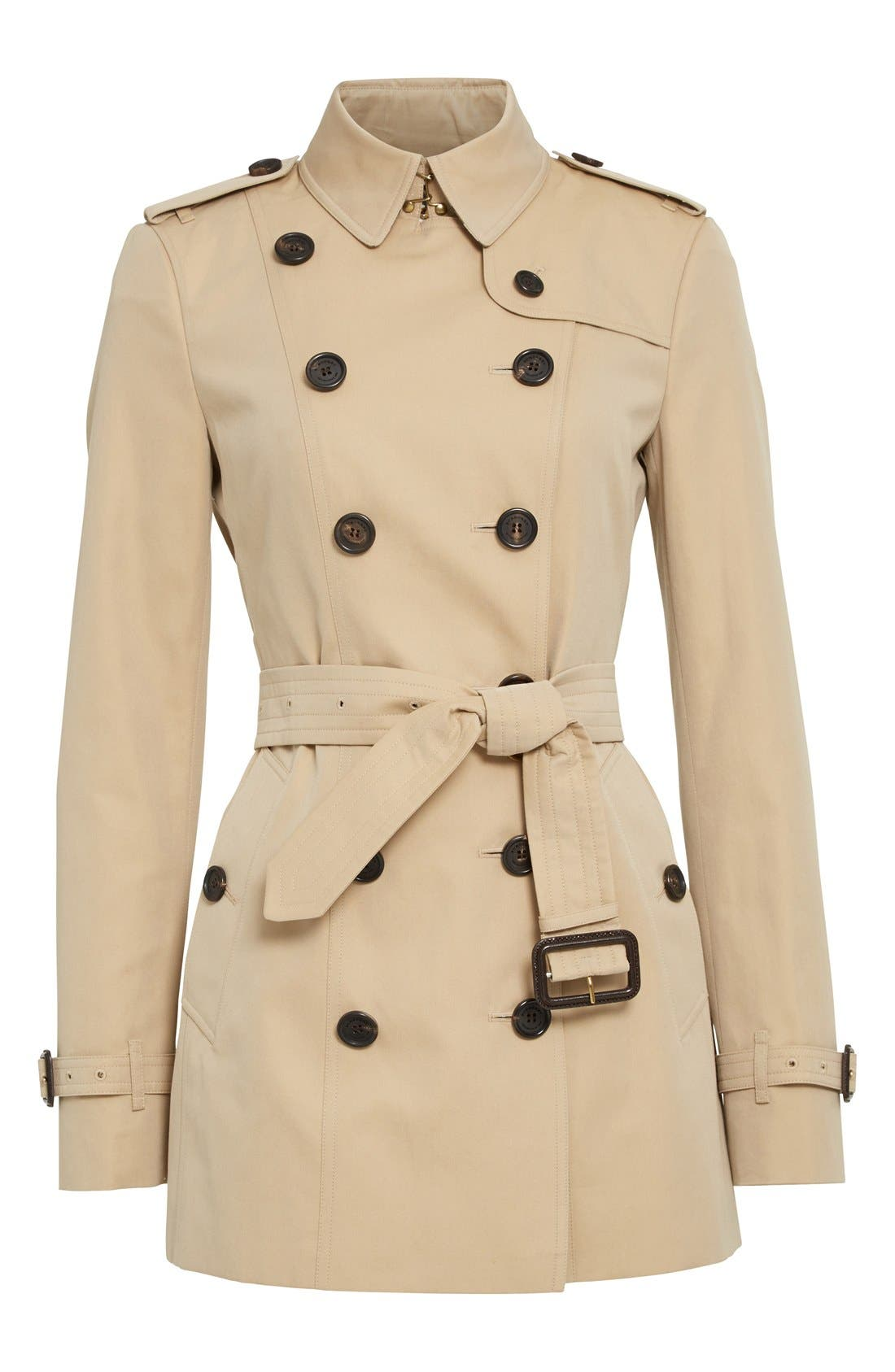 Alternate Image 4  - Burberry Sandringham Short Slim Trench Coat