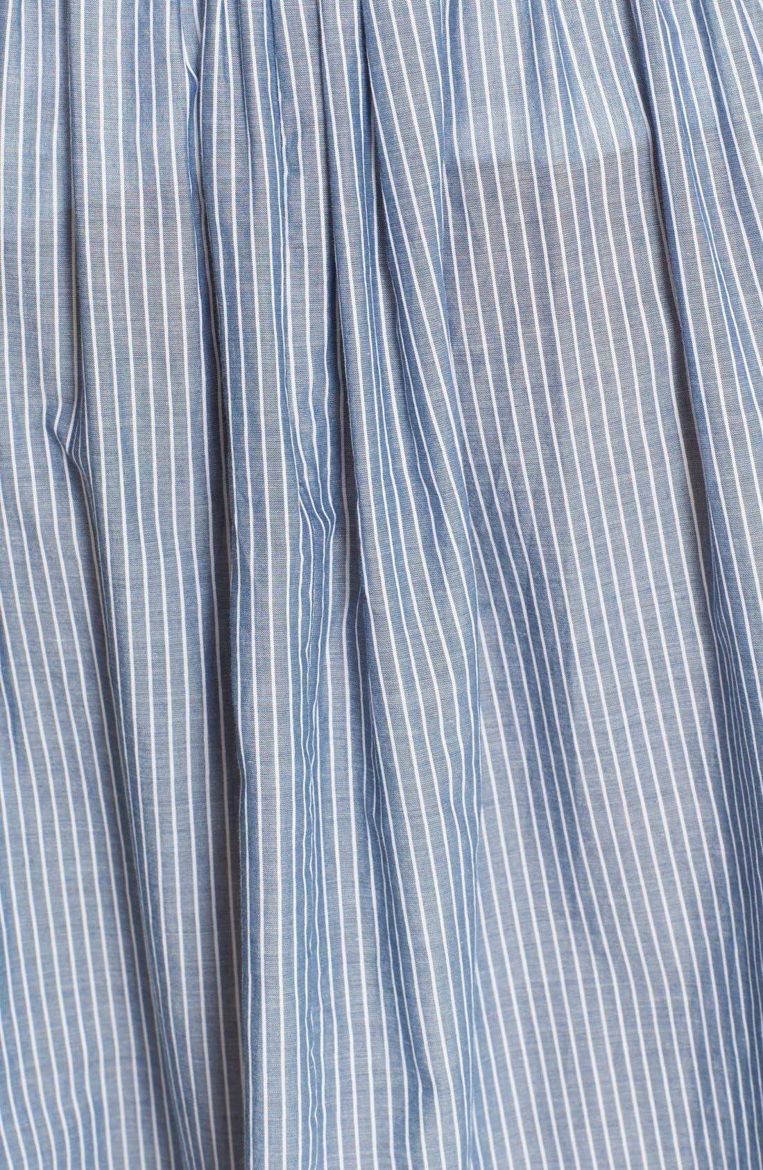 Alternate Image 6  - Vince Shirred Stripe Full Cotton Skirt