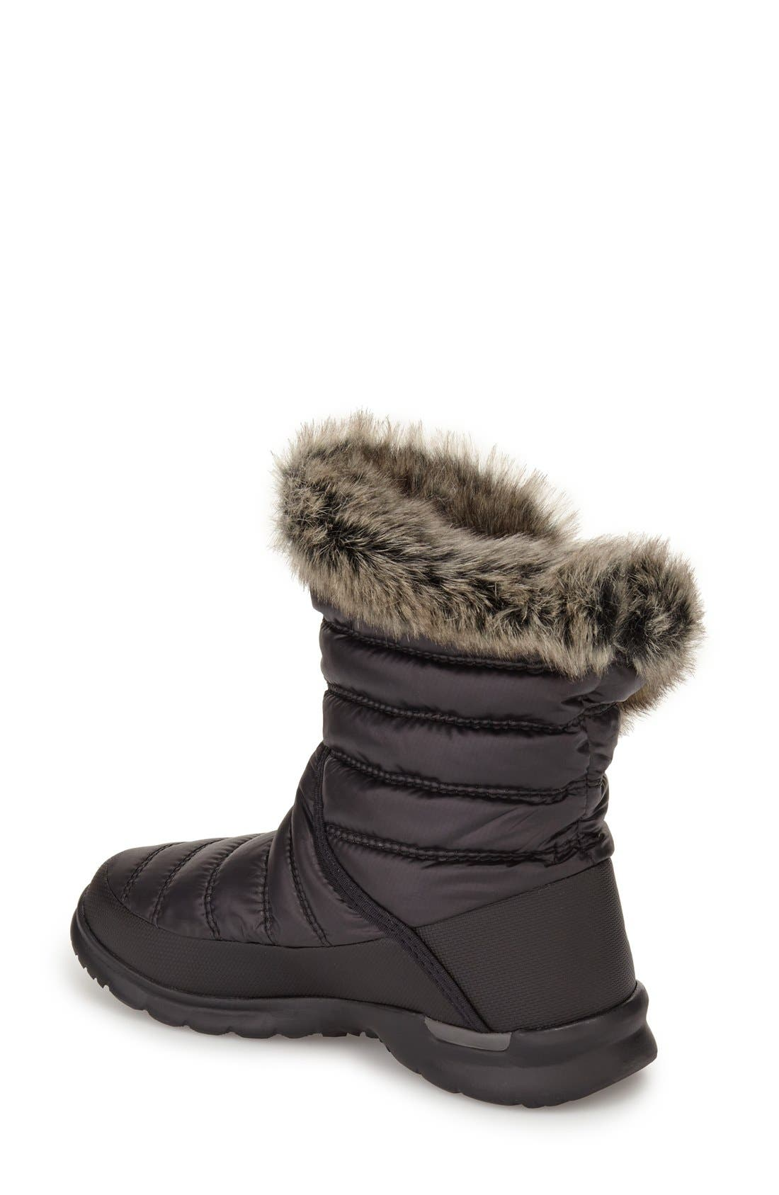 Microbaffle Waterproof ThermoBall<sup>®</sup> Insulated Winter Boot,                             Alternate thumbnail 2, color,                             Black/ Smoked Pearl Grey