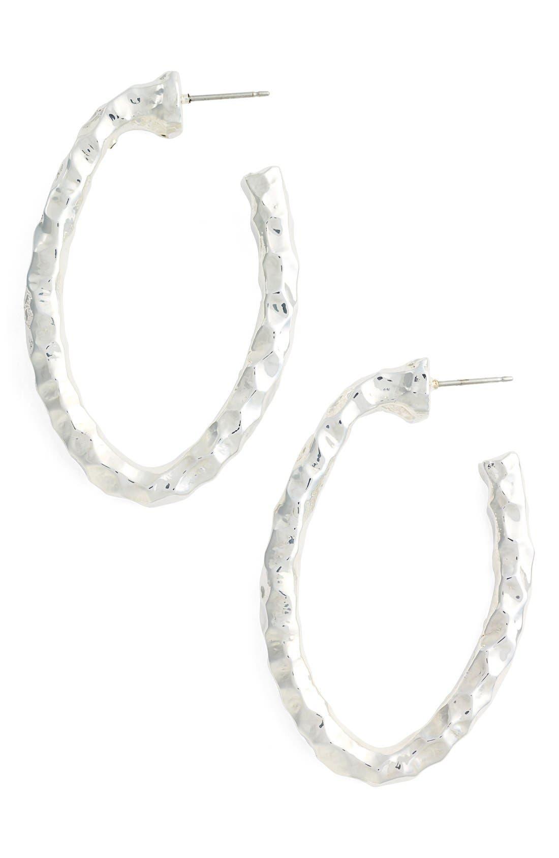 Simon Sebbag Hammered Hoop Earrings