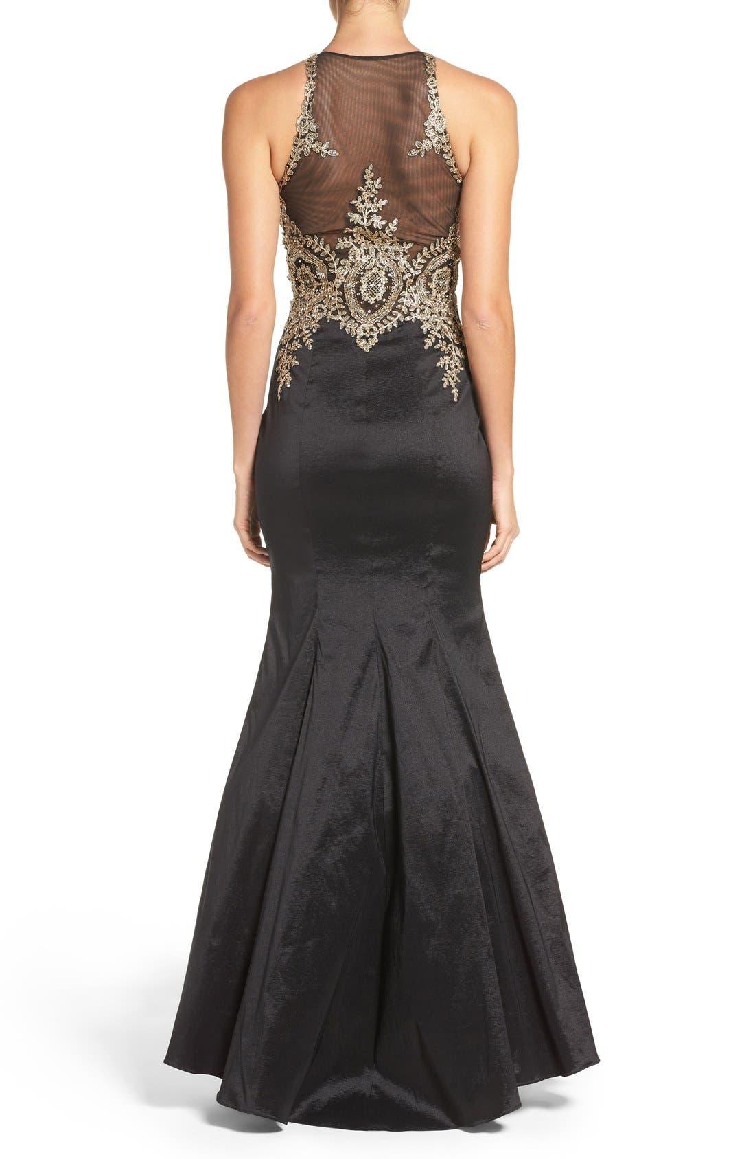 Alternate Image 2  - Xscape Embellished Taffeta Gown (Regular & Petite)