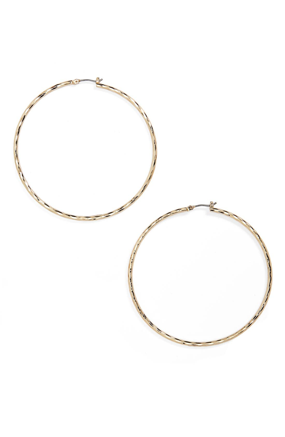 Main Image - Nordstrom Hammered Hoop Earrings
