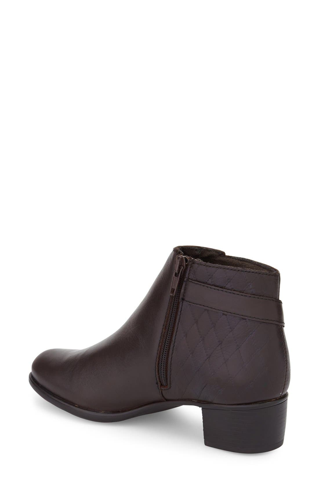 'Jolynn' Bootie,                             Alternate thumbnail 4, color,                             Brown Quilted Leather