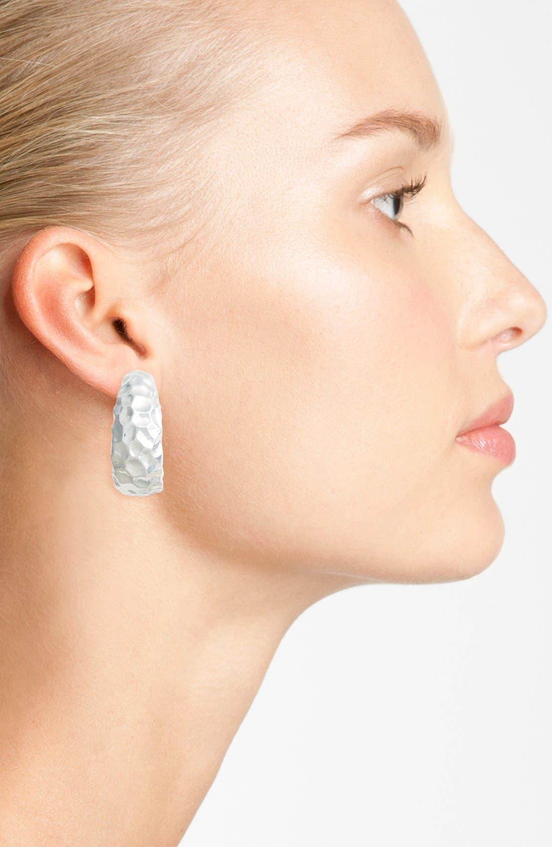 Alternate Image 2  - Simon Sebbag Hammered Clip Hoop Earrings
