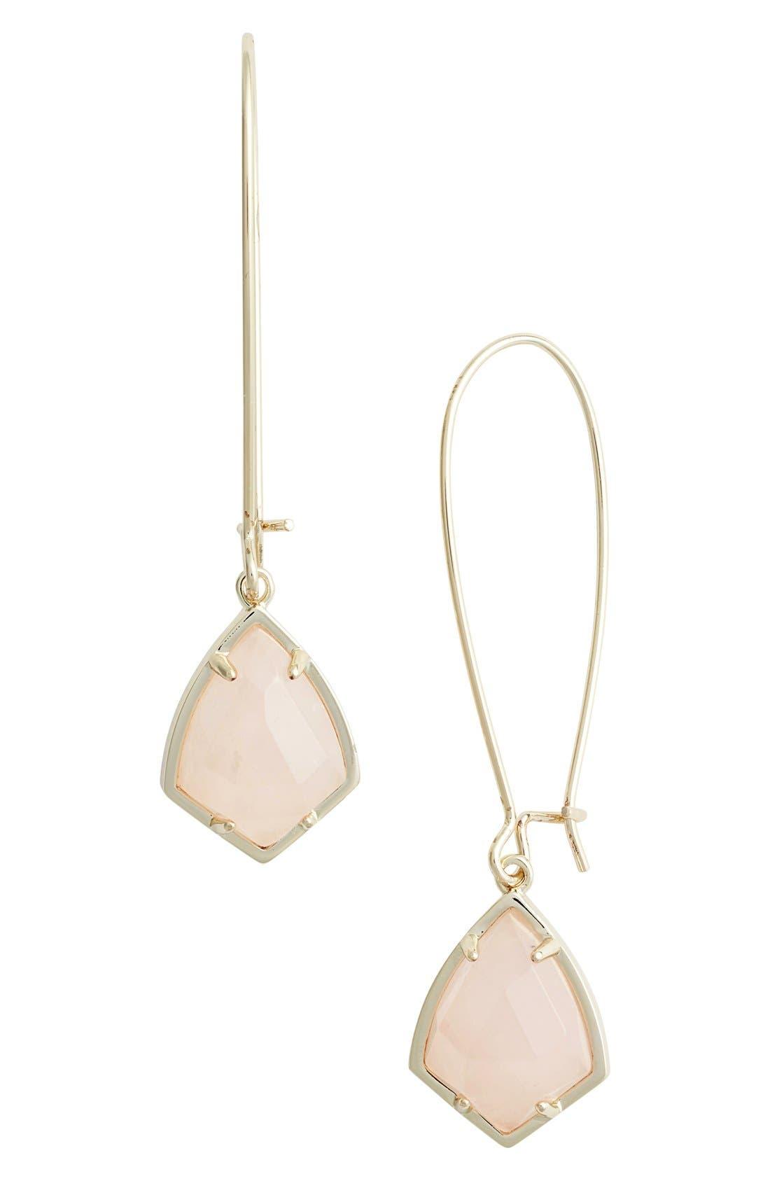 Kendra Scott 'Carrine' Semiprecious Stone Drop Earrings