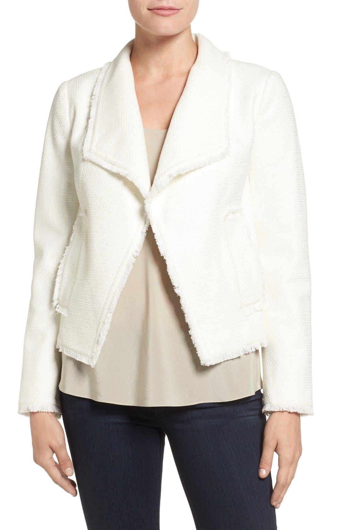 Tweed Jacket,                         Main,                         color, Cream