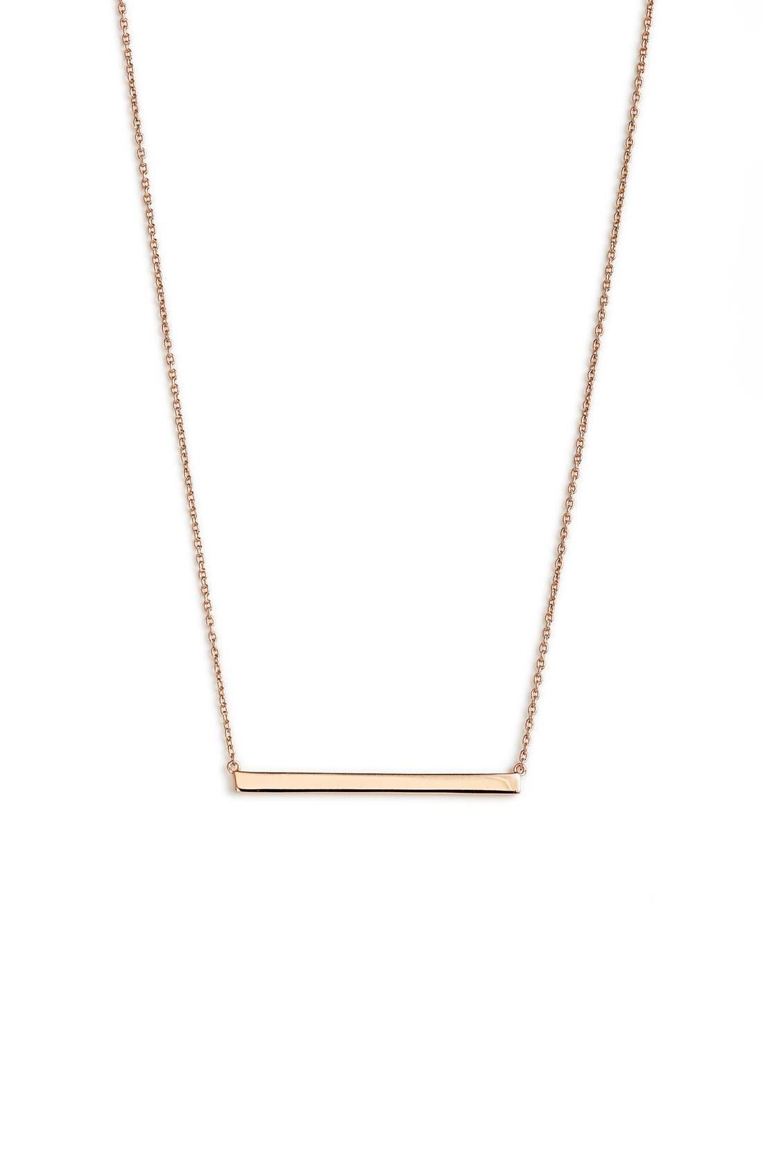 Argento Vivo Bar Pendant Necklace