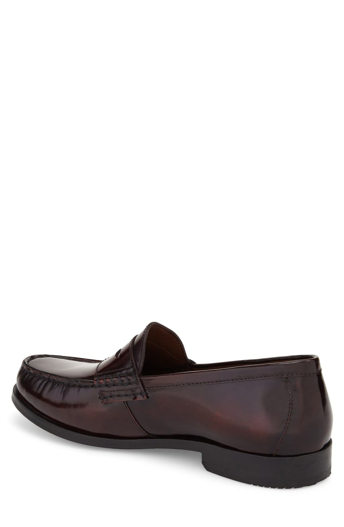 Pannell Penny Loafer,                             Alternate thumbnail 2, color,                             Burgundy Leather