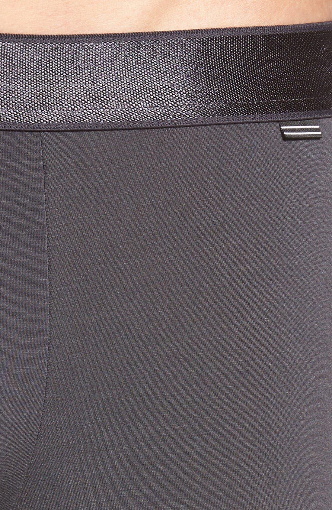 Micromodal Trunks,                             Alternate thumbnail 4, color,                             Graphite Grey