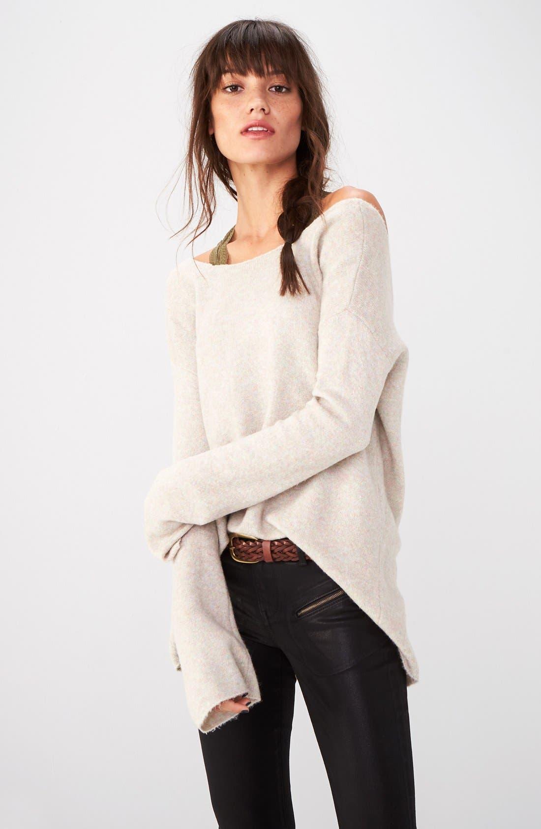Alternate Image 6  - Trouvé Coated Skinny Jeans