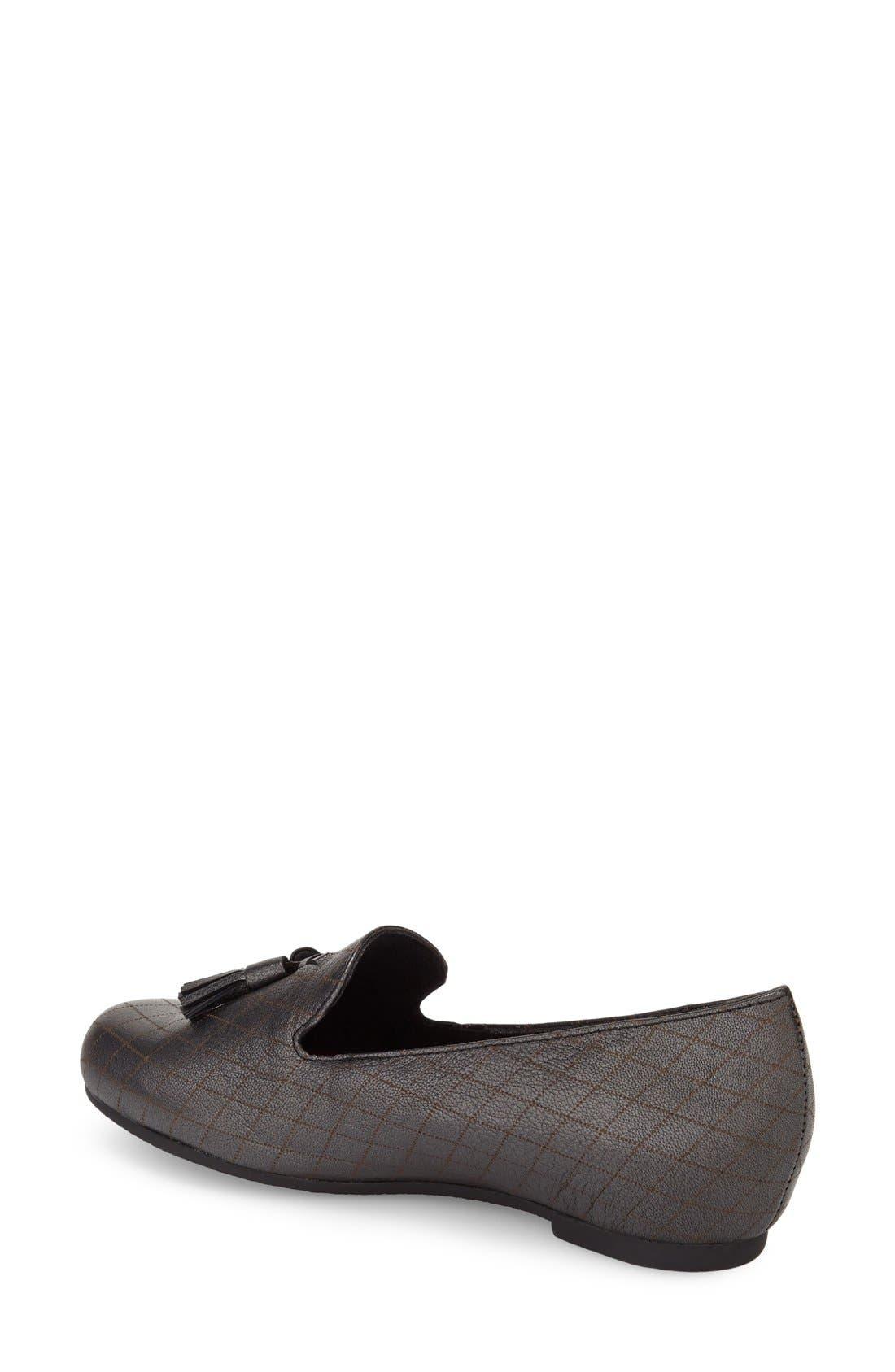 Tallie Tassel Loafer,                             Alternate thumbnail 2, color,                             Black Graphite Leather