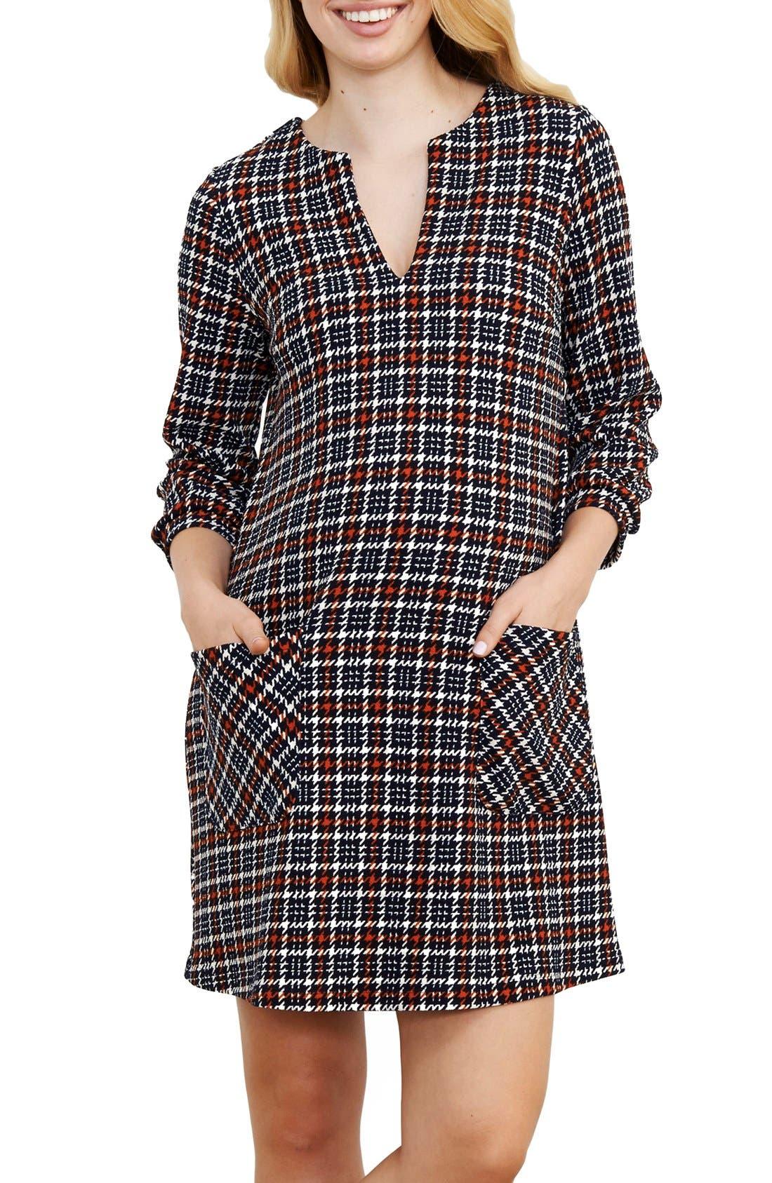 Alternate Image 1 Selected - Maternal America Stripe Maternity Dress