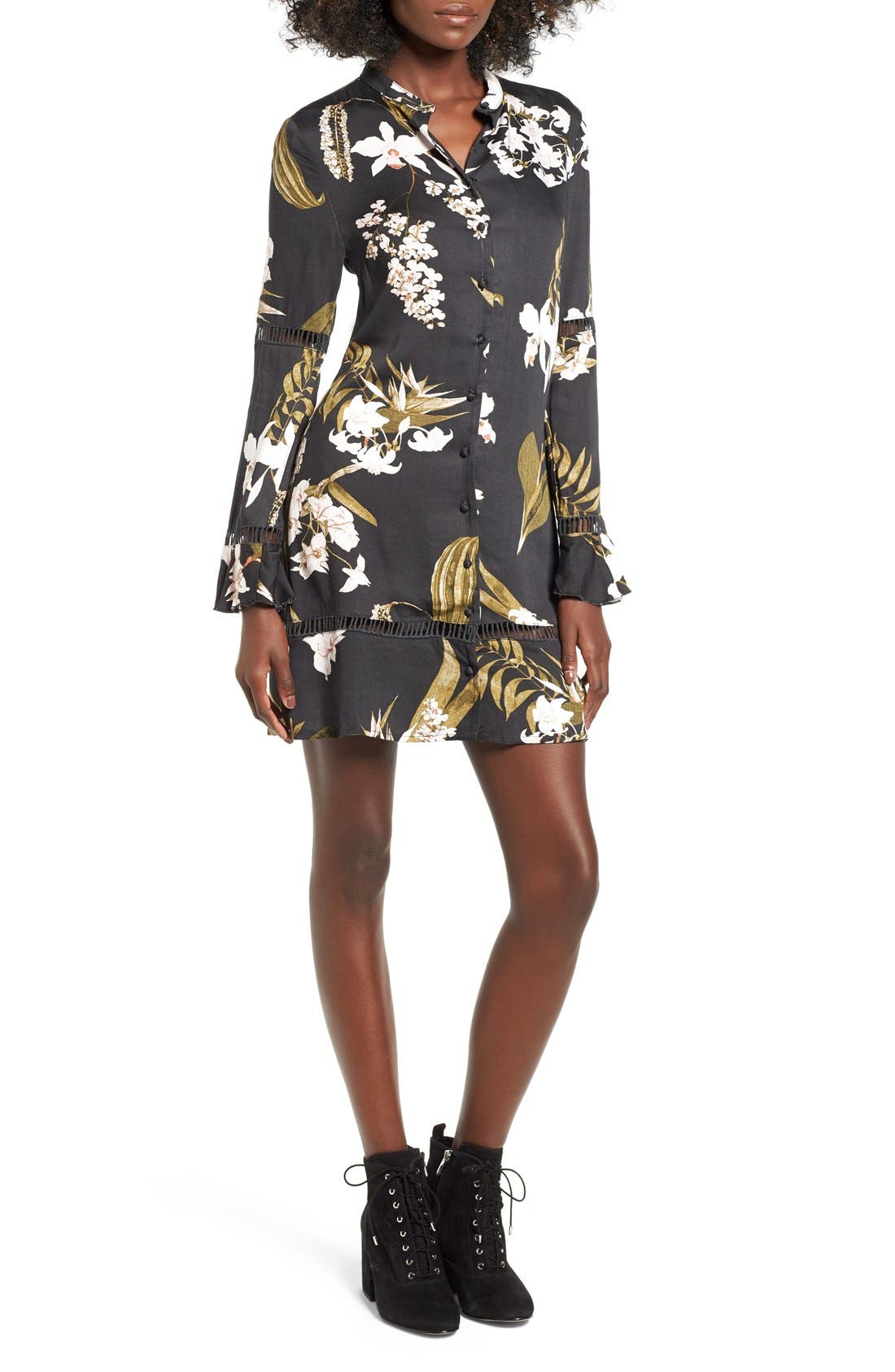 Main Image - Somedays Lovin 'Sweet Light' Floral Print Shirtdress