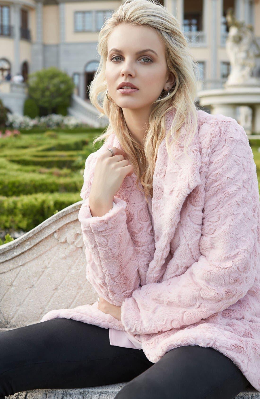 Alternate Image 3  - Karen Kane Faux Fur Coat