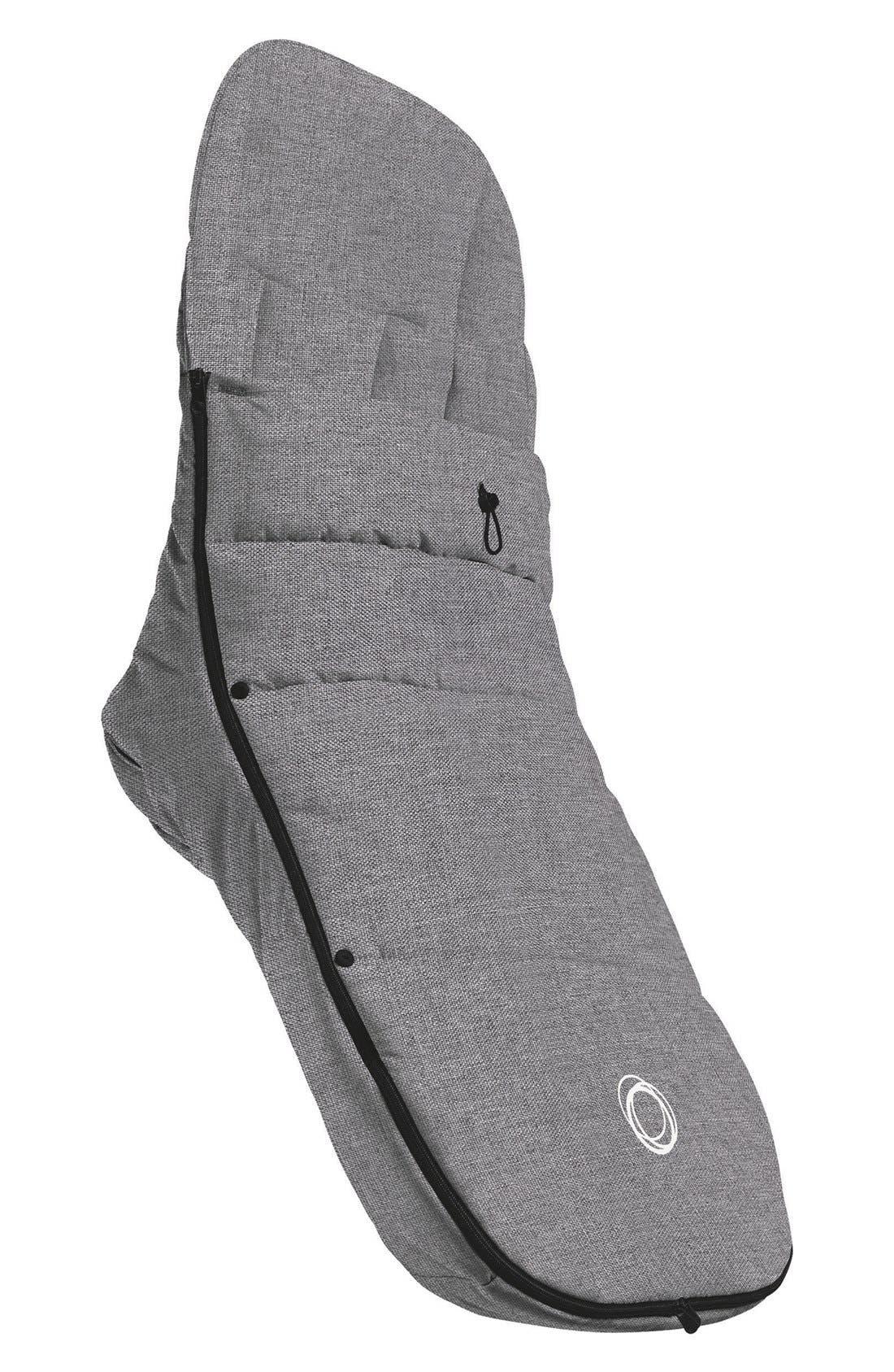 Water Repellent Stroller Footmuff,                         Main,                         color, Grey Melange